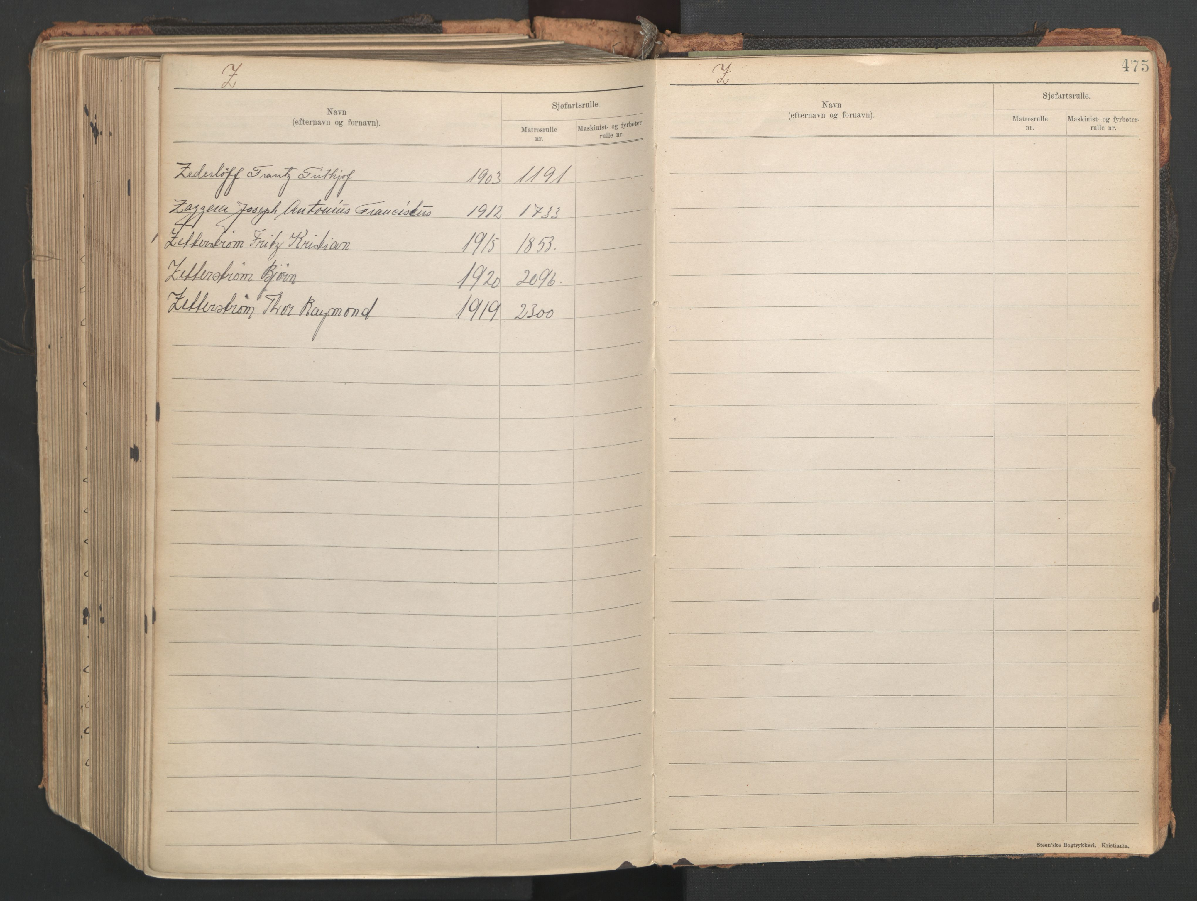 SAST, Stavanger sjømannskontor, F/Fb/Fba/L0005: Navneregister sjøfartsruller, etternavnsregister til hovedrulle 1921, 1921-1947, s. 133