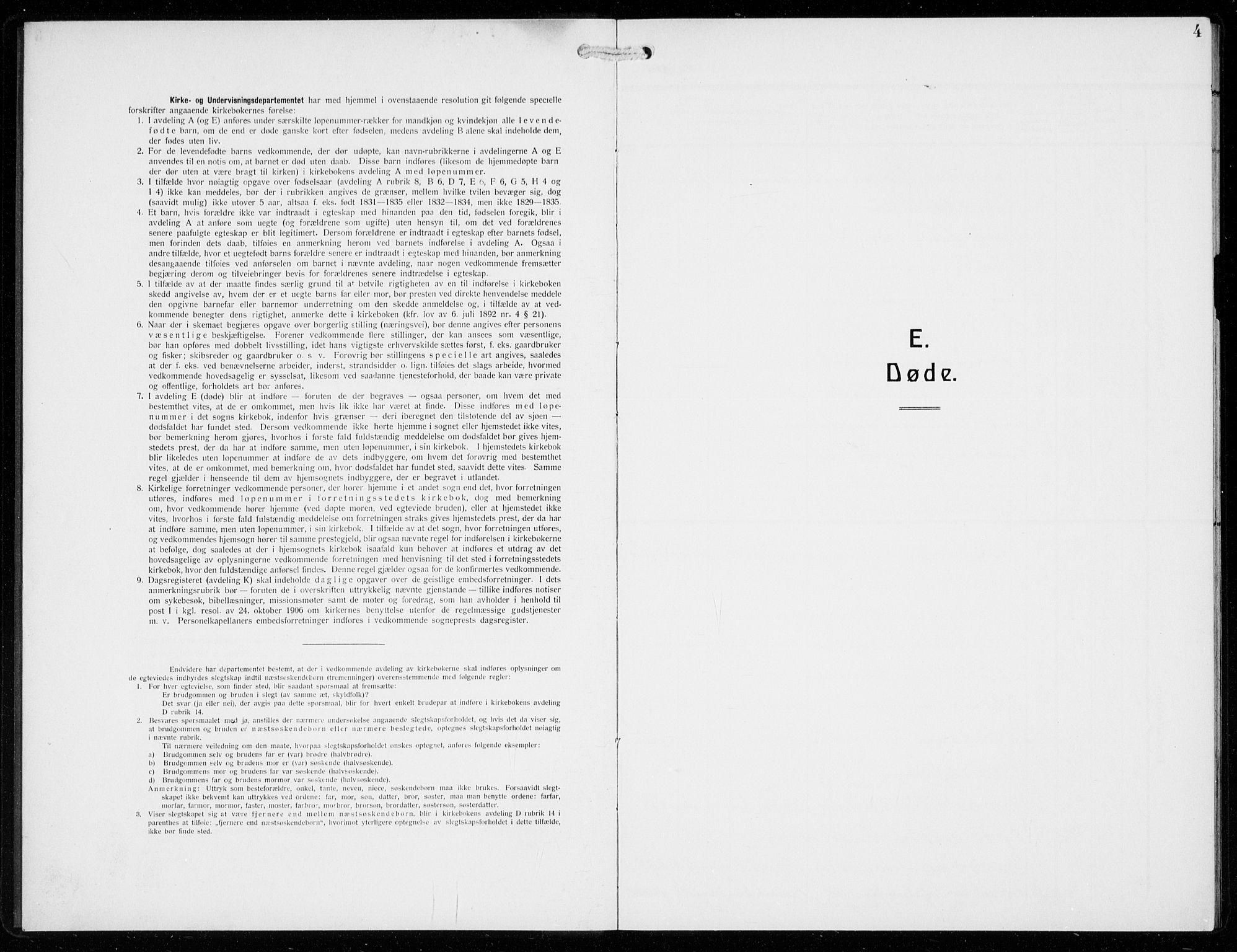 SAB, Voss Sokneprestembete, H/Hab: Klokkerbok nr. F  2, 1913-1932, s. 4