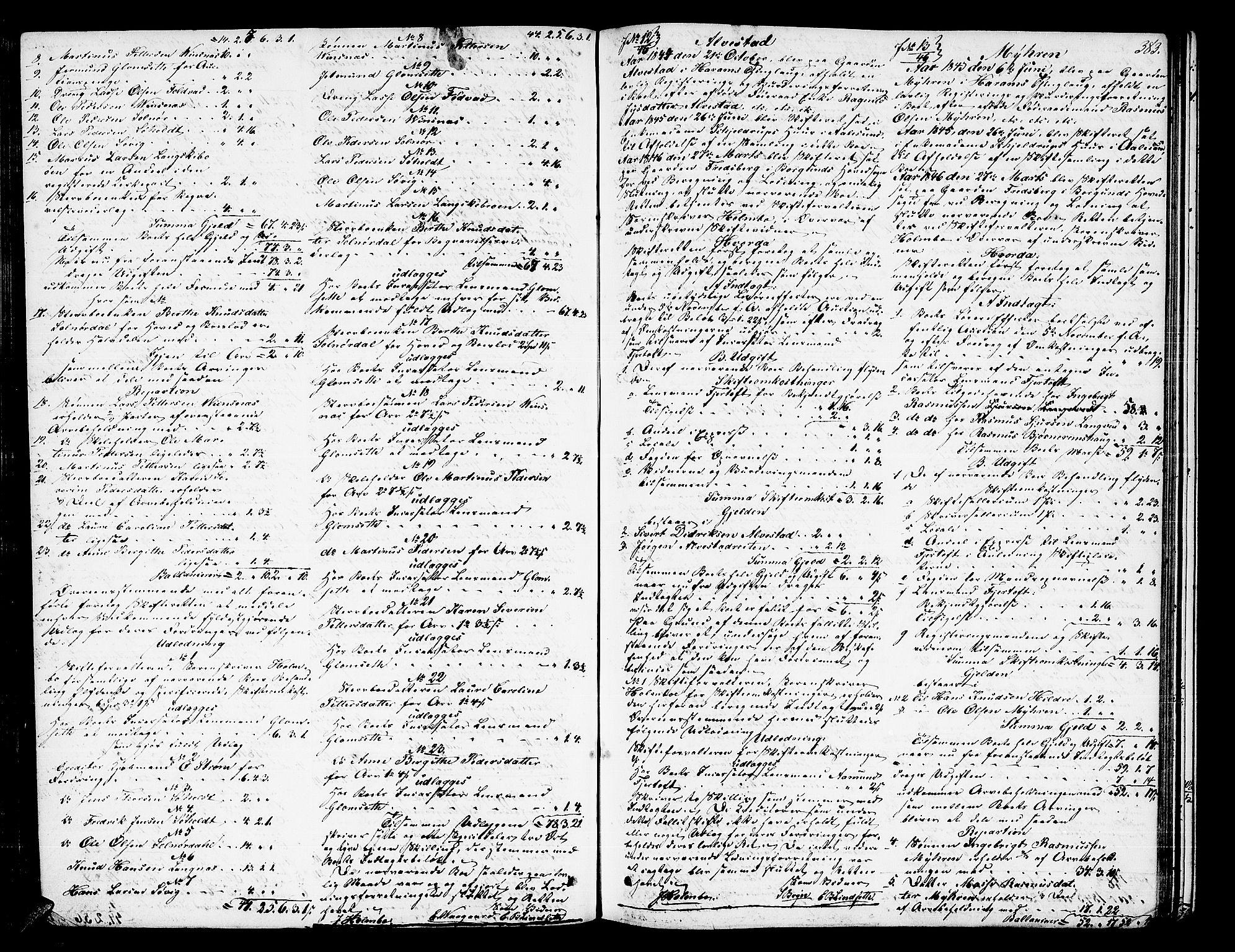 SAT, Nordre Sunnmøre sorenskriveri, 3/3A/L0019: Skifteprotokoll 12, 1840-1853, s. 383