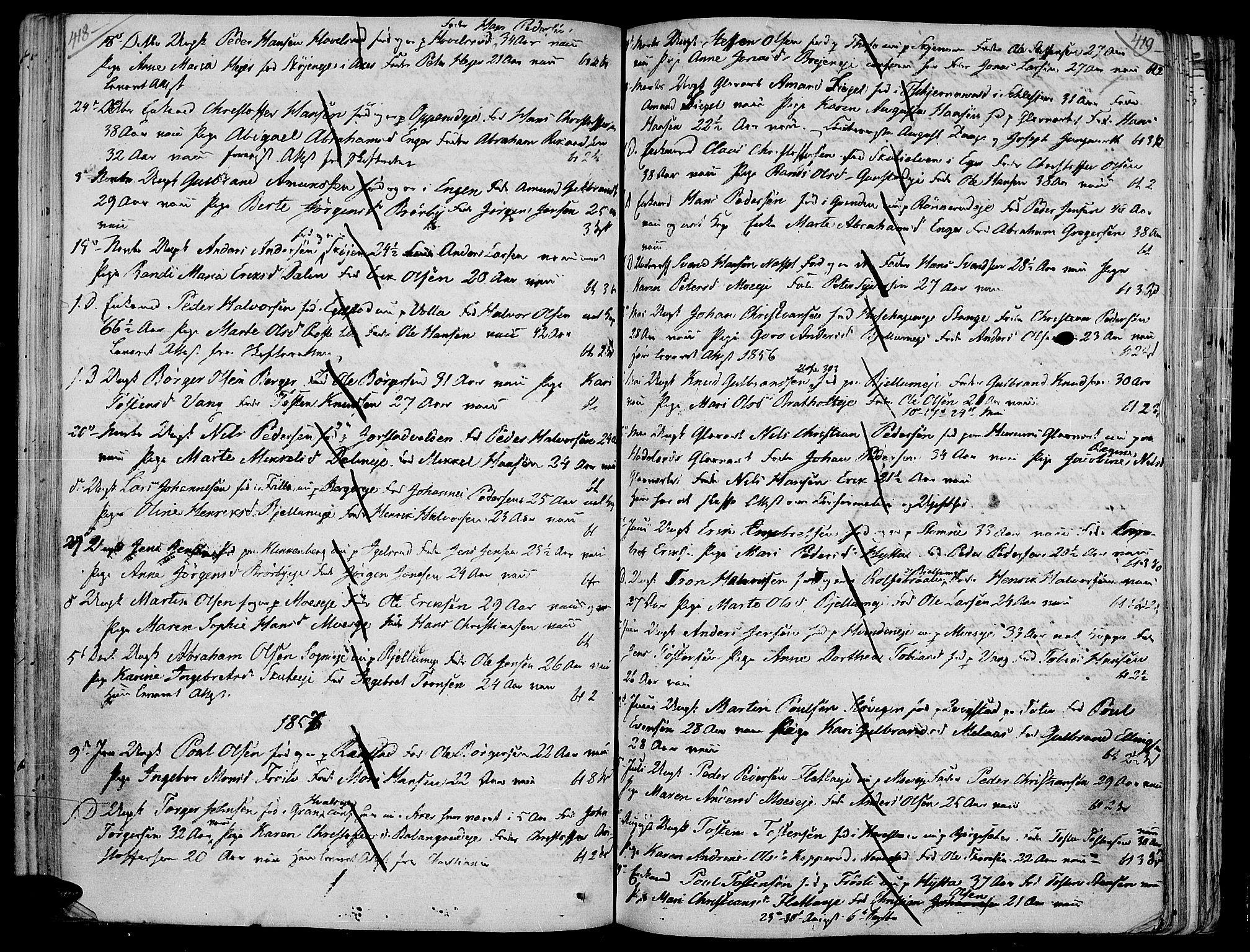 SAH, Jevnaker prestekontor, Ministerialbok nr. 4, 1800-1861, s. 418-419