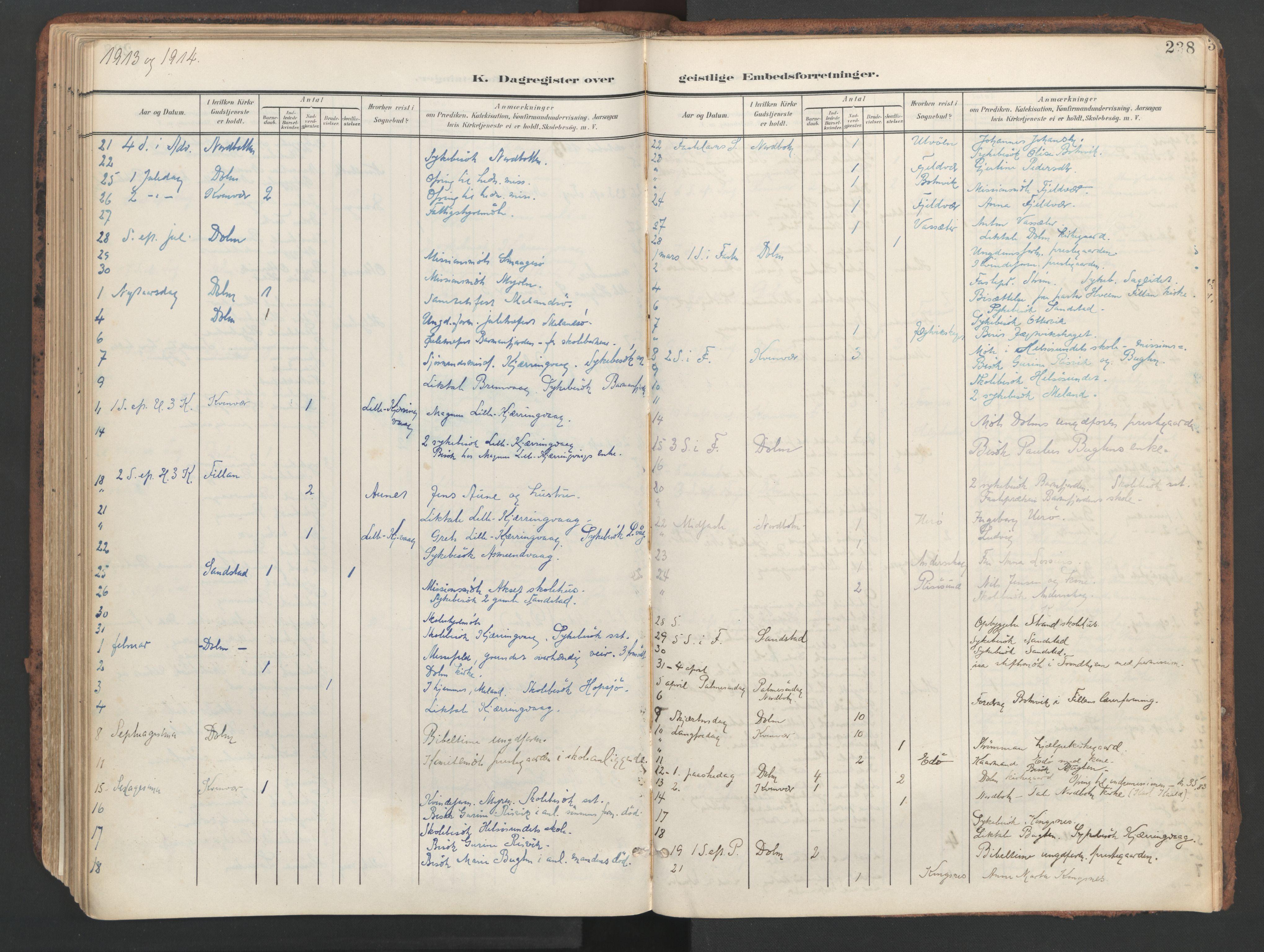 SAT, Ministerialprotokoller, klokkerbøker og fødselsregistre - Sør-Trøndelag, 634/L0537: Ministerialbok nr. 634A13, 1896-1922, s. 238