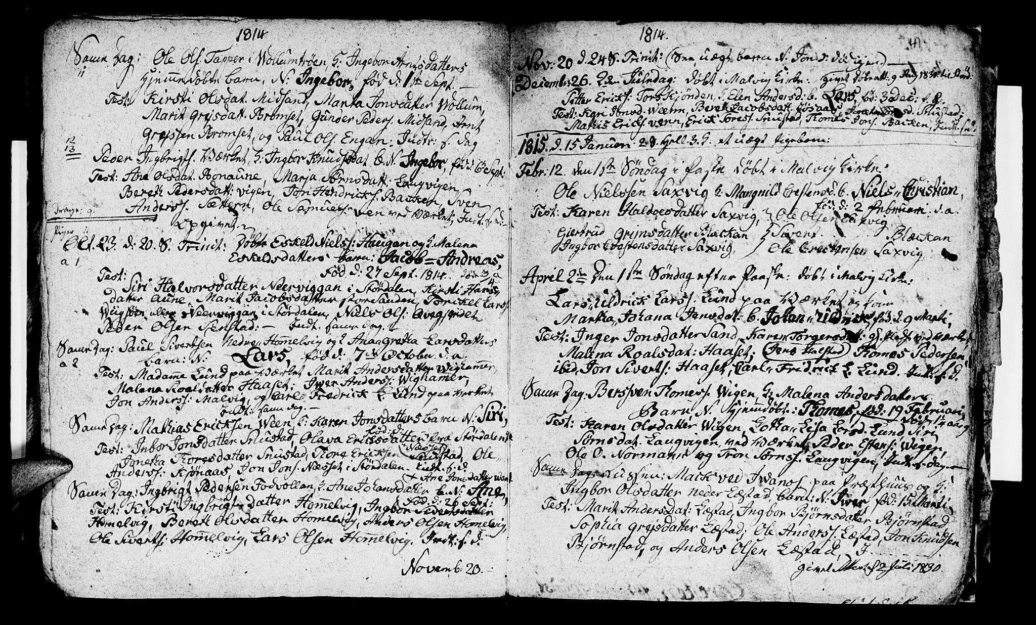 SAT, Ministerialprotokoller, klokkerbøker og fødselsregistre - Sør-Trøndelag, 616/L0419: Klokkerbok nr. 616C02, 1797-1816, s. 41