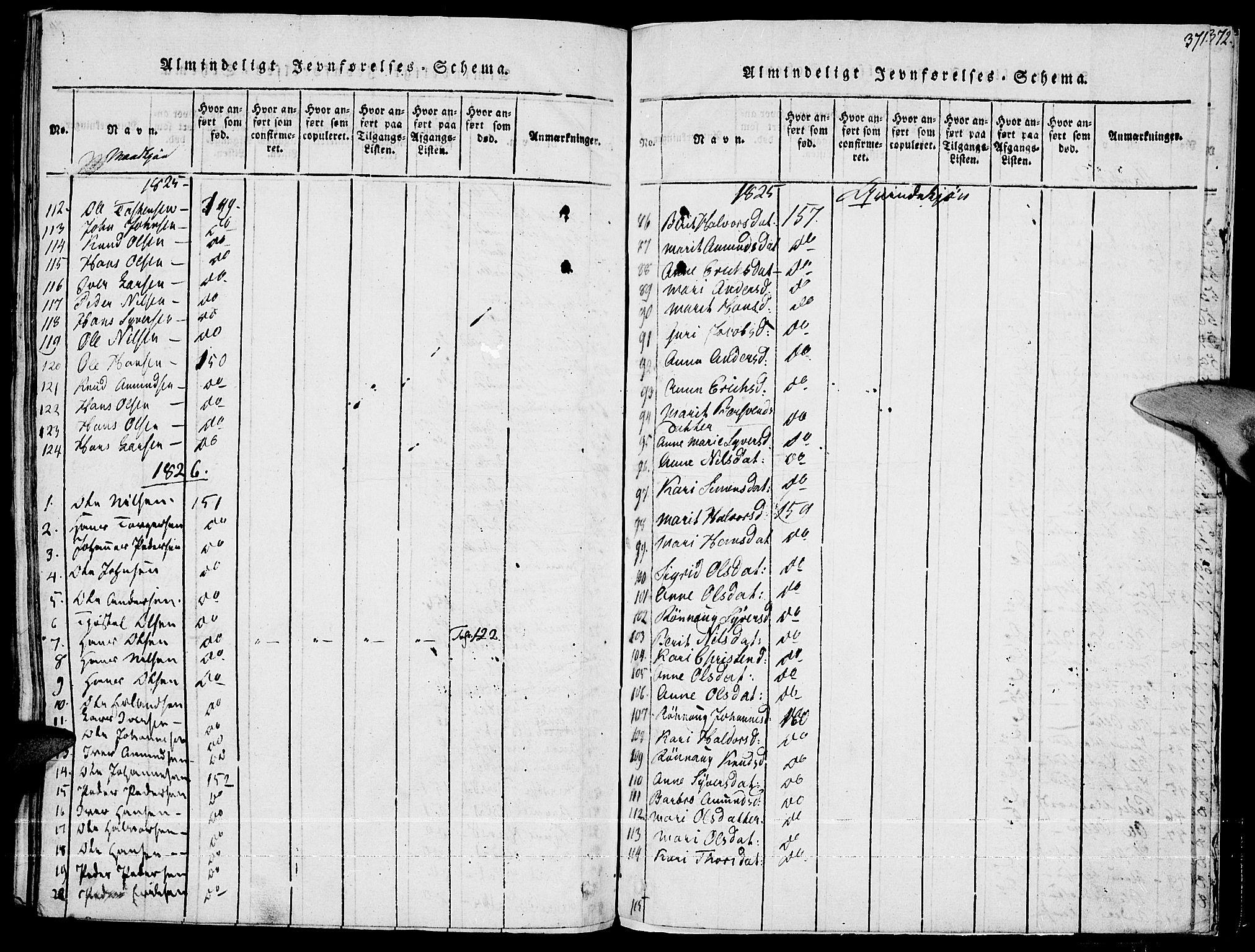 SAH, Fron prestekontor, H/Ha/Haa/L0002: Ministerialbok nr. 2, 1816-1827, s. 371