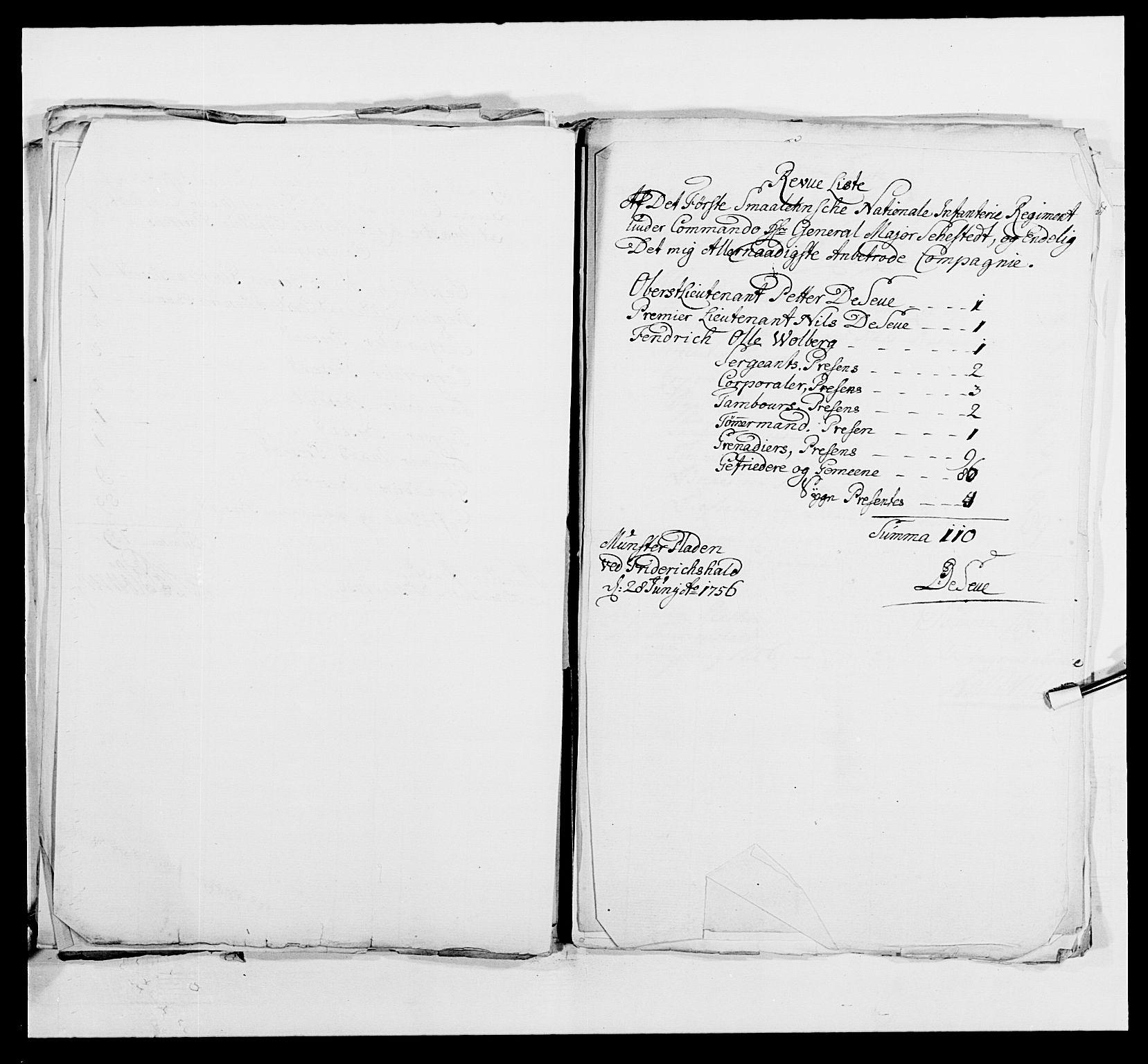 RA, Kommanderende general (KG I) med Det norske krigsdirektorium, E/Ea/L0495: 1. Smålenske regiment, 1732-1763, s. 620