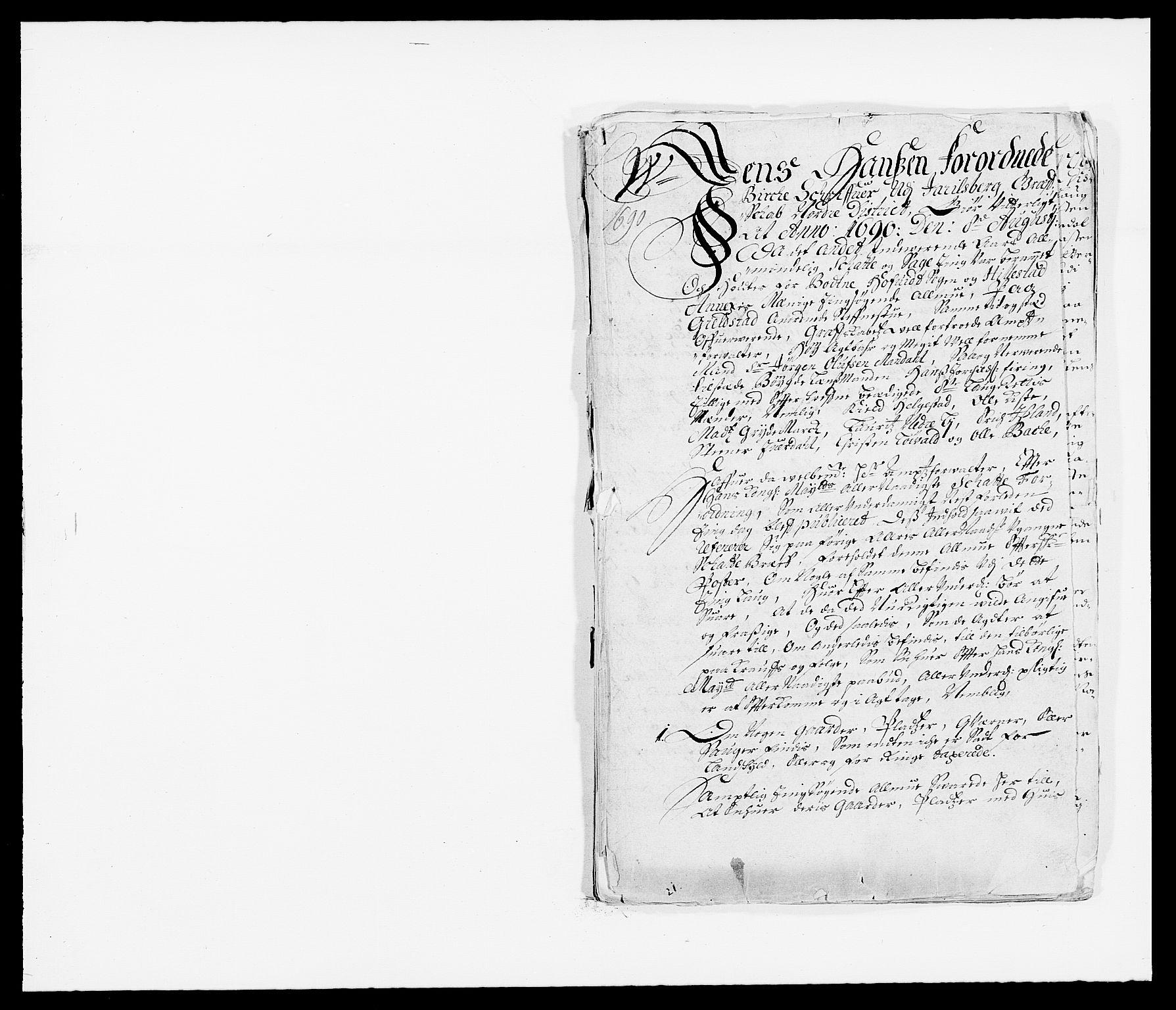 RA, Rentekammeret inntil 1814, Reviderte regnskaper, Fogderegnskap, R32/L1861: Fogderegnskap Jarlsberg grevskap, 1686-1690, s. 354