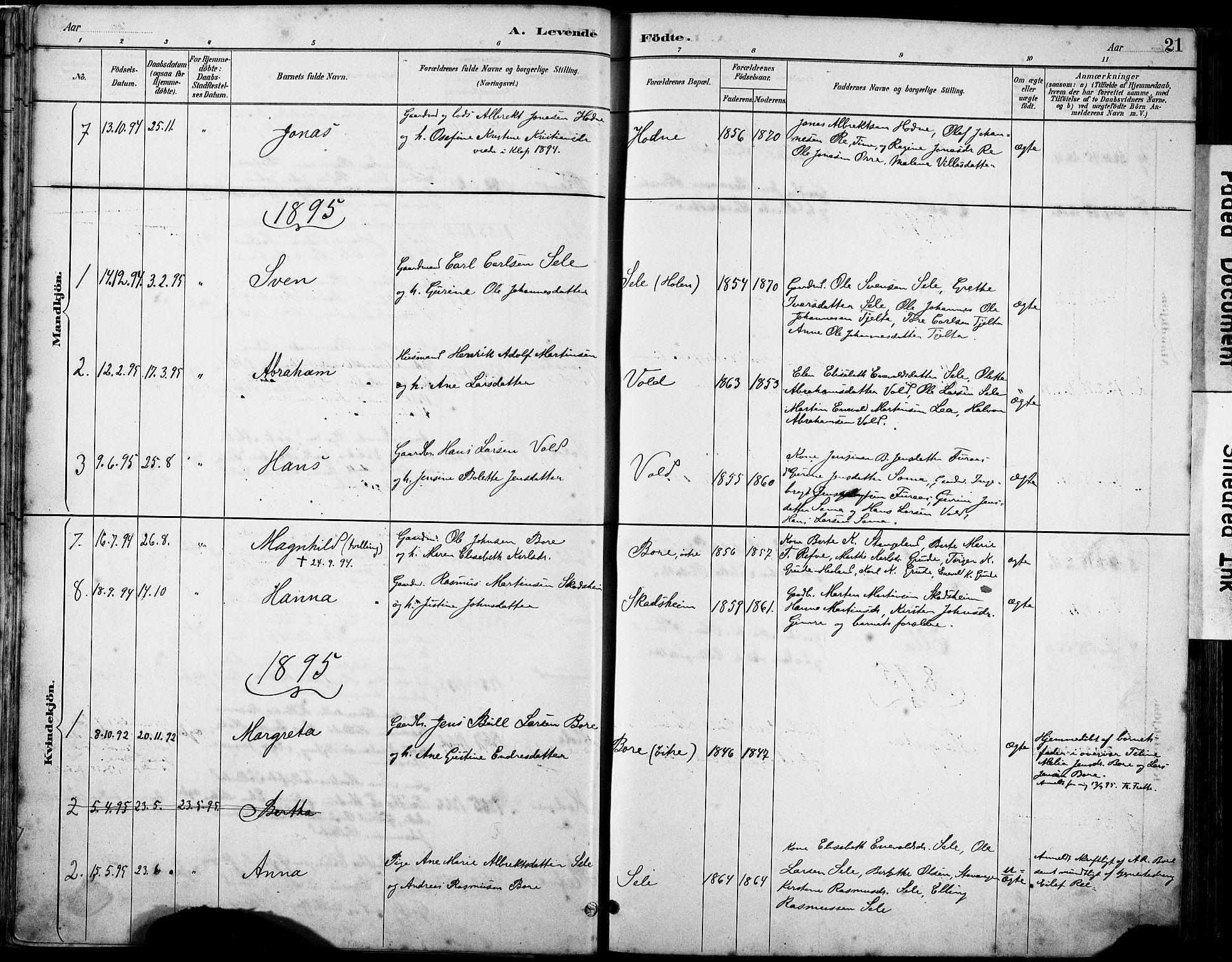 SAST, Klepp sokneprestkontor, 30BA/L0008: Ministerialbok nr. A 9, 1886-1919, s. 21
