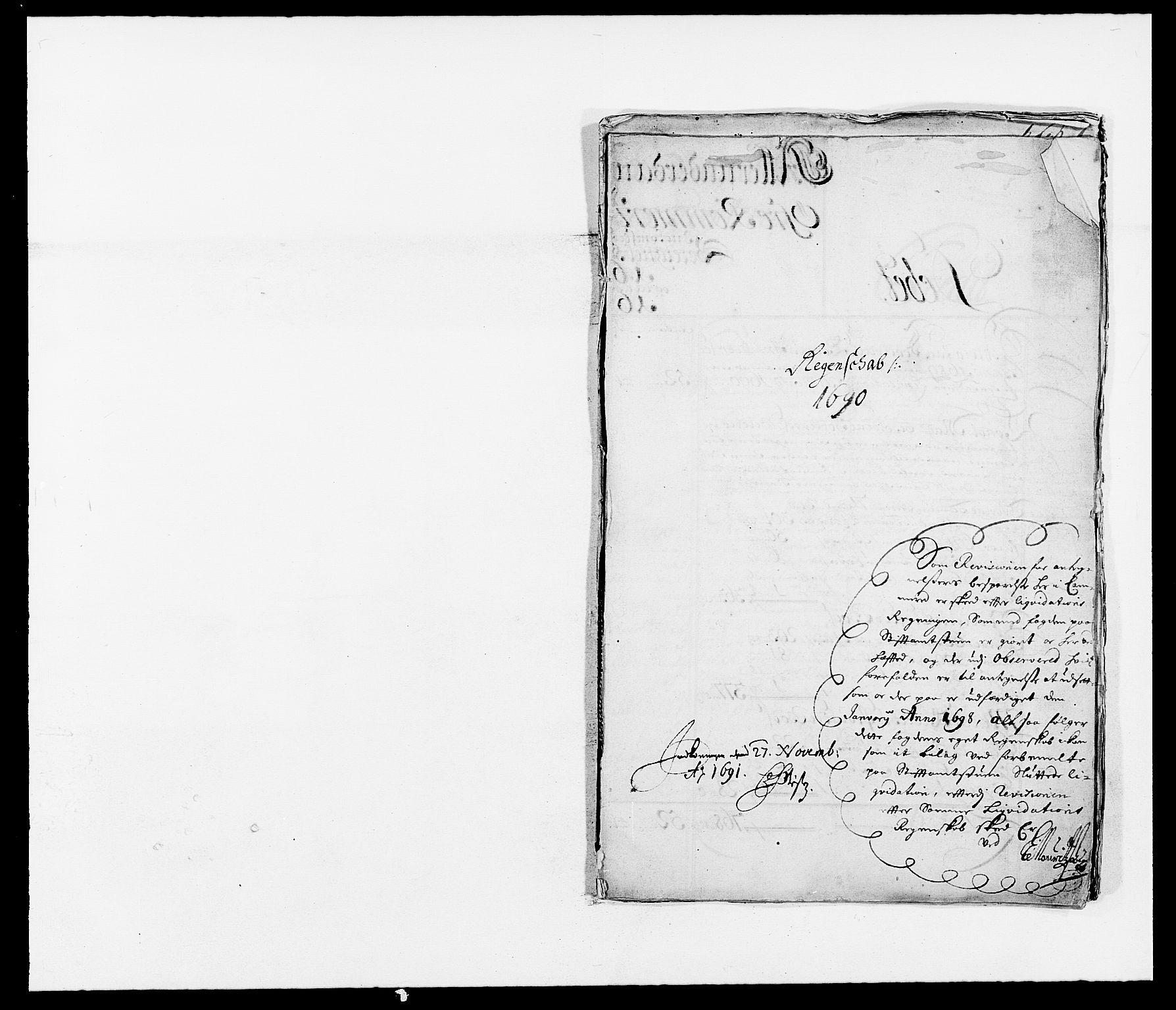 RA, Rentekammeret inntil 1814, Reviderte regnskaper, Fogderegnskap, R12/L0702: Fogderegnskap Øvre Romerike, 1690, s. 2