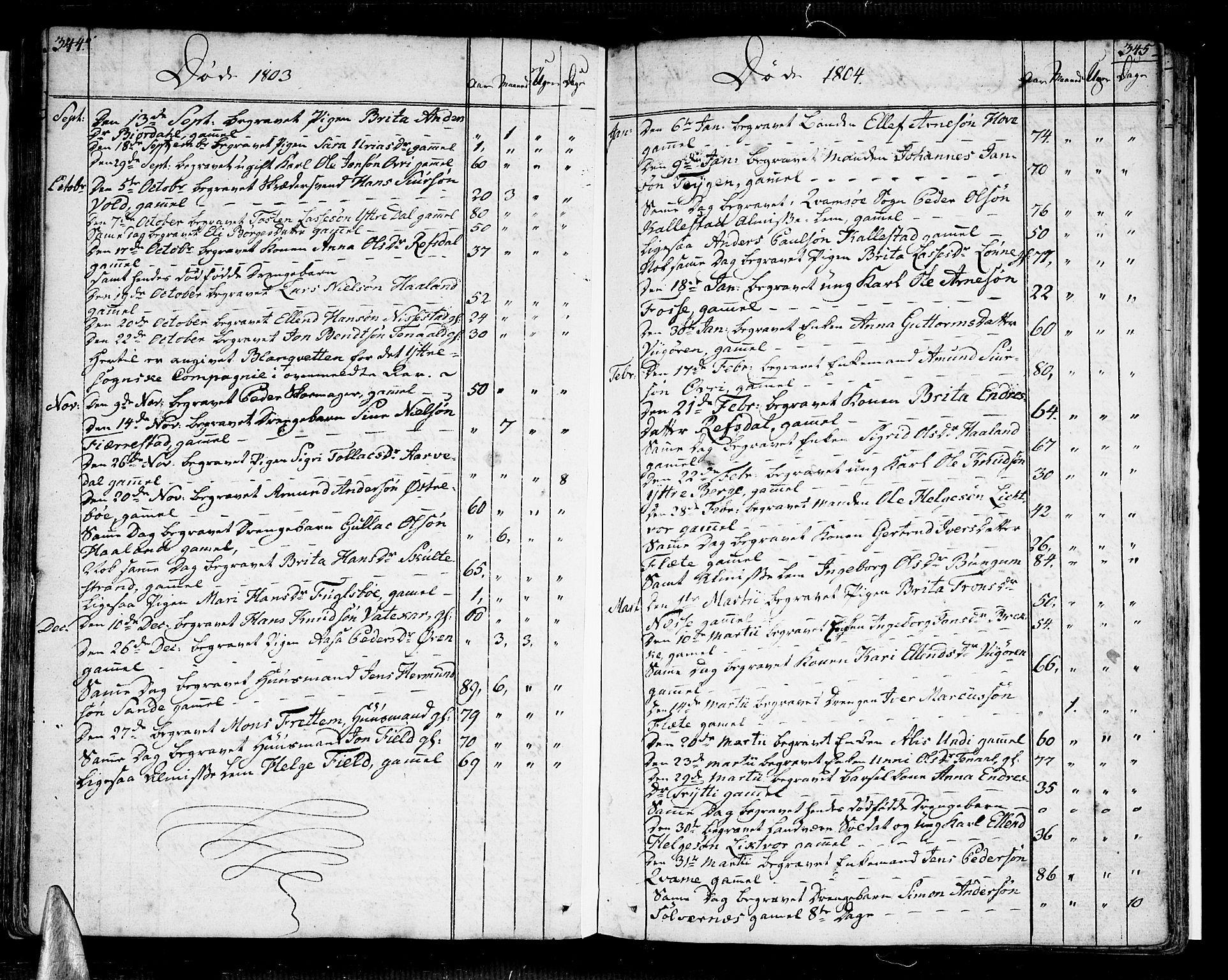 SAB, Vik Sokneprestembete, Ministerialbok nr. A 5, 1787-1820, s. 344-345