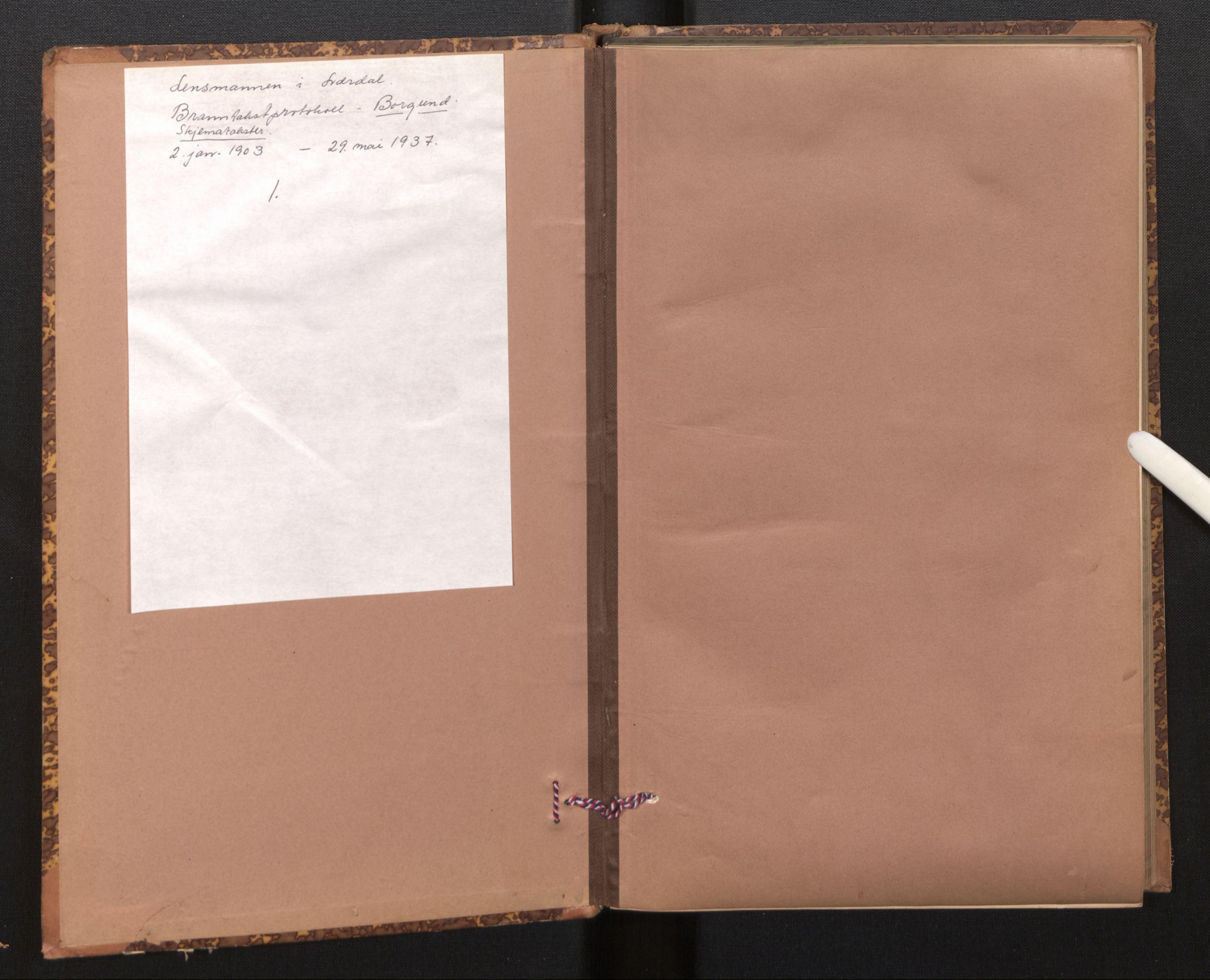 SAB, Lensmannen i Borgund, 0012/L0003: Branntakstprotokoll, skjematakst, 1903-1937