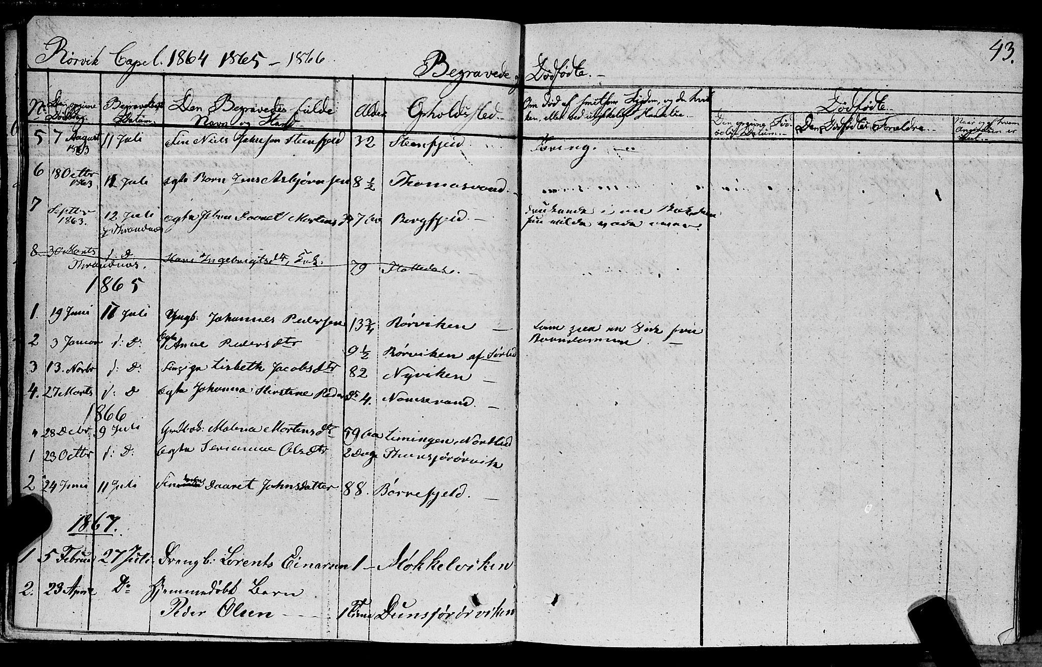 SAT, Ministerialprotokoller, klokkerbøker og fødselsregistre - Nord-Trøndelag, 762/L0538: Ministerialbok nr. 762A02 /1, 1833-1879, s. 43