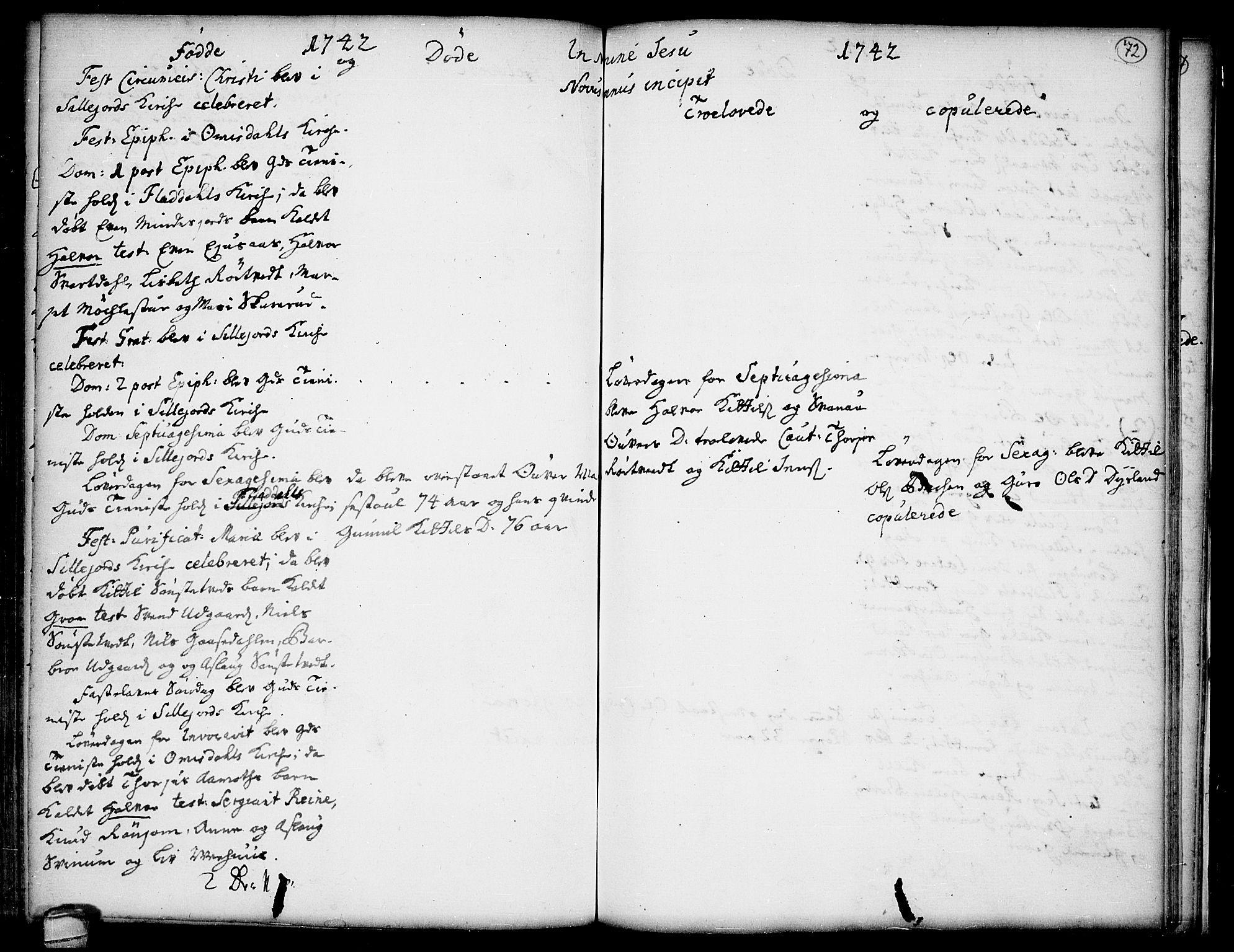 SAKO, Seljord kirkebøker, F/Fa/L0005: Ministerialbok nr. I 5, 1737-1743, s. 72