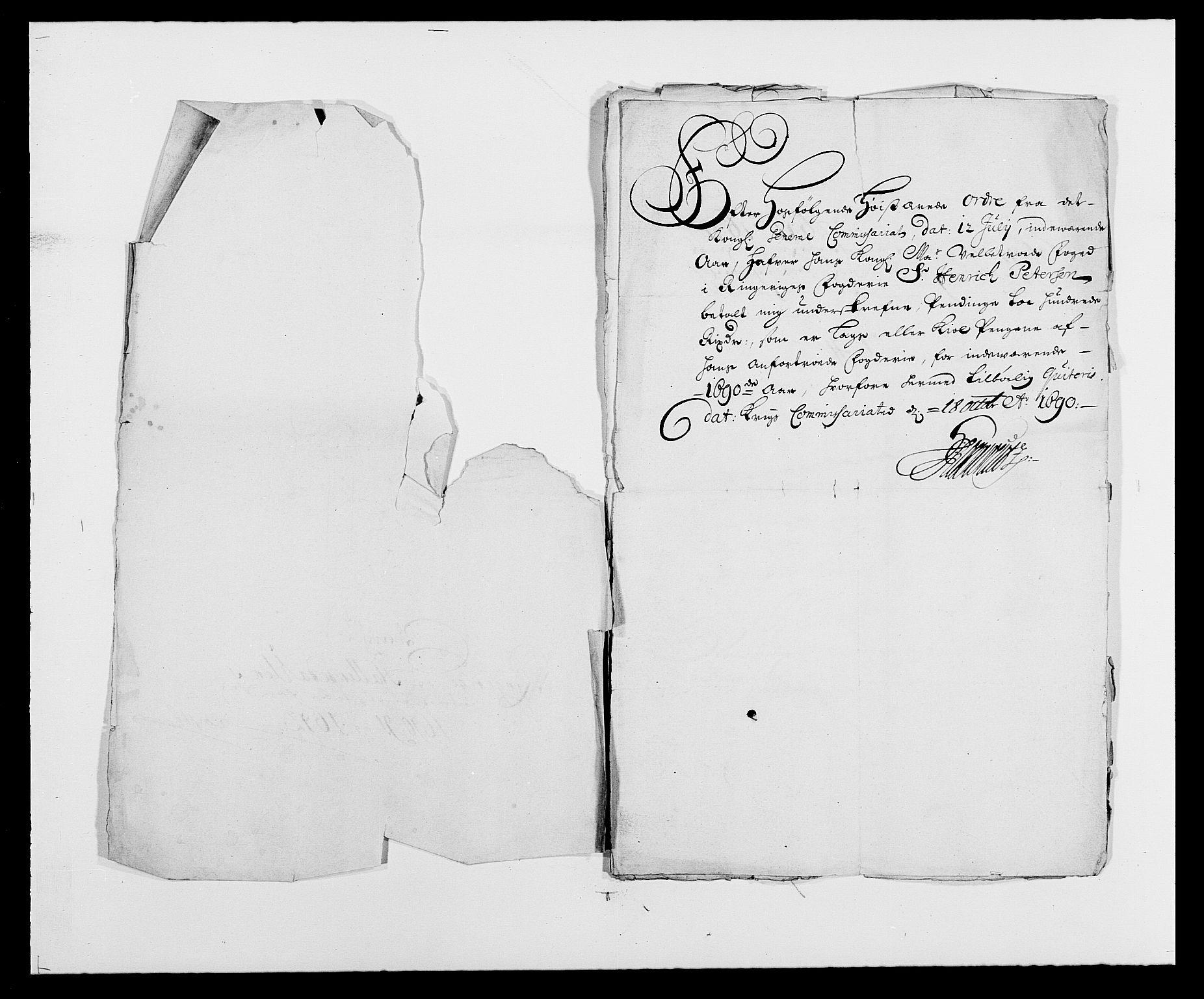 RA, Rentekammeret inntil 1814, Reviderte regnskaper, Fogderegnskap, R21/L1448: Fogderegnskap Ringerike og Hallingdal, 1690-1692, s. 123