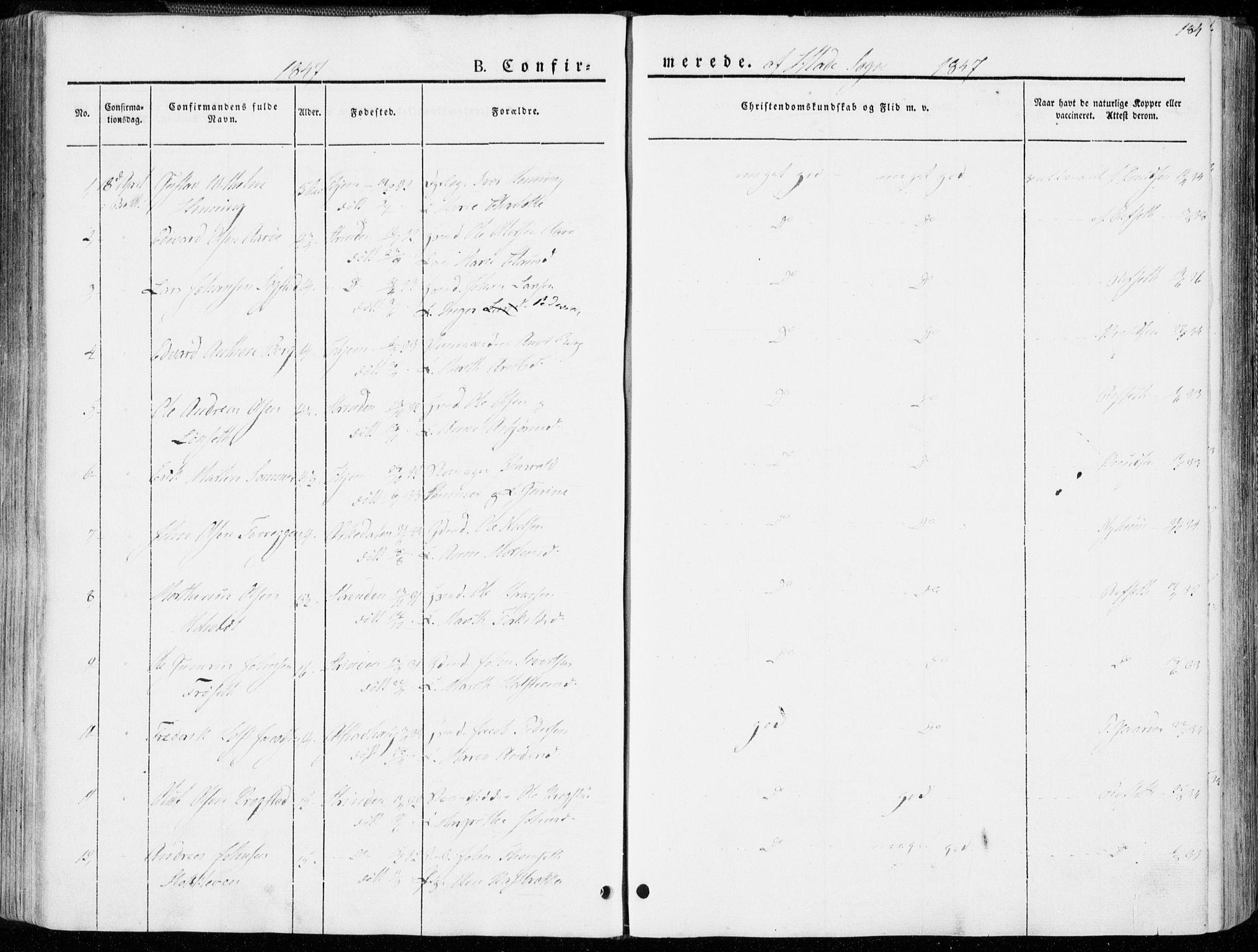 SAT, Ministerialprotokoller, klokkerbøker og fødselsregistre - Sør-Trøndelag, 606/L0290: Ministerialbok nr. 606A05, 1841-1847, s. 184