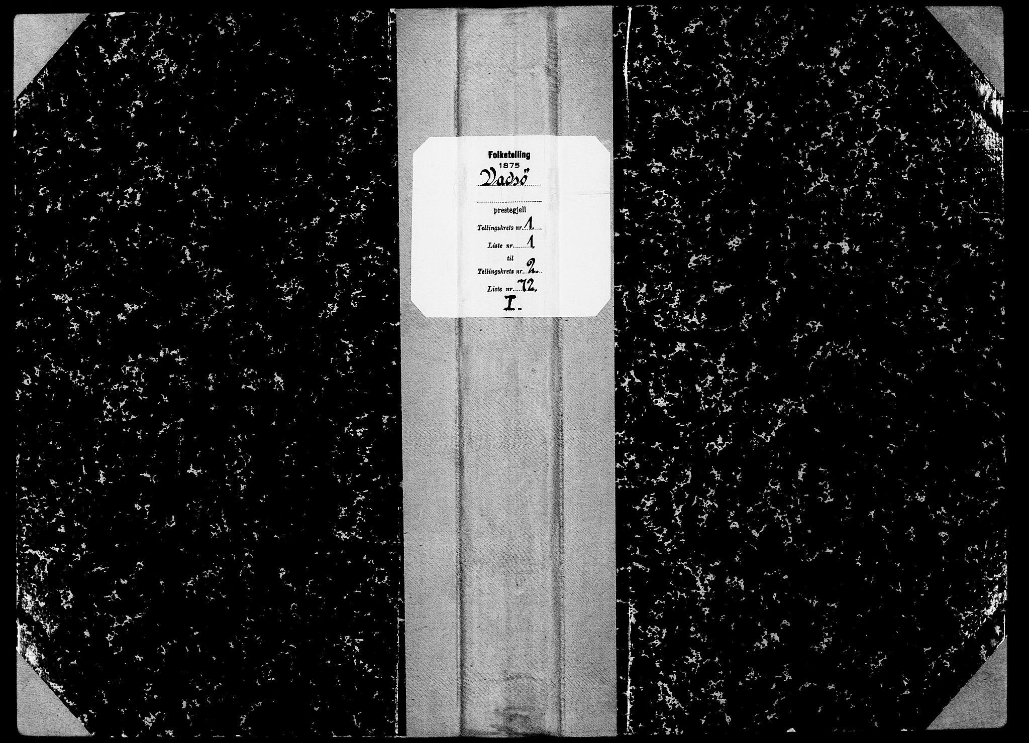 SATØ, Folketelling 1875 for 2003B Vadsø prestegjeld, Vadsø kjøpstad, 1875