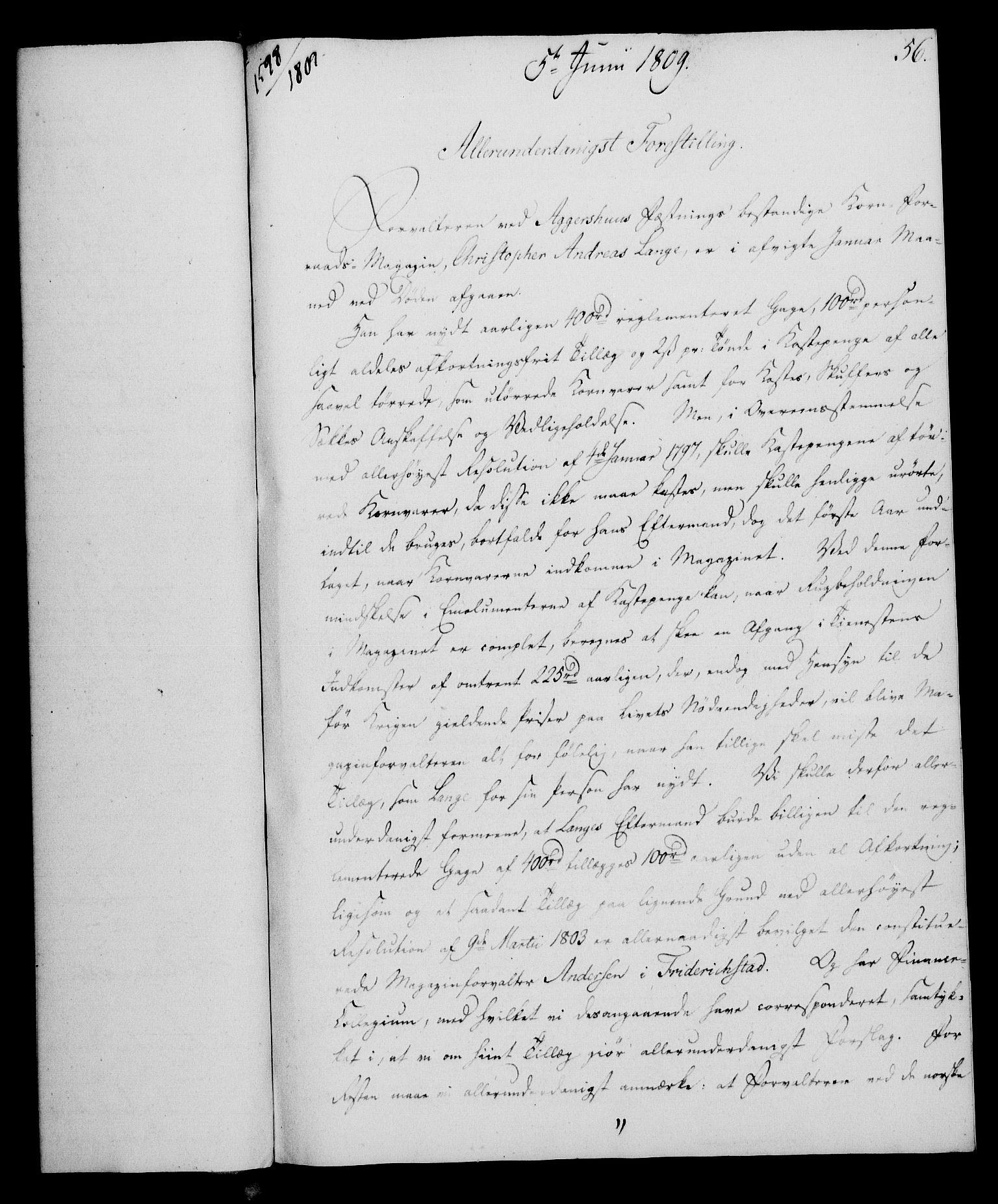 RA, Rentekammeret, Kammerkanselliet, G/Gf/Gfa/L0091: Norsk relasjons- og resolusjonsprotokoll (merket RK 52.91), 1809, s. 234