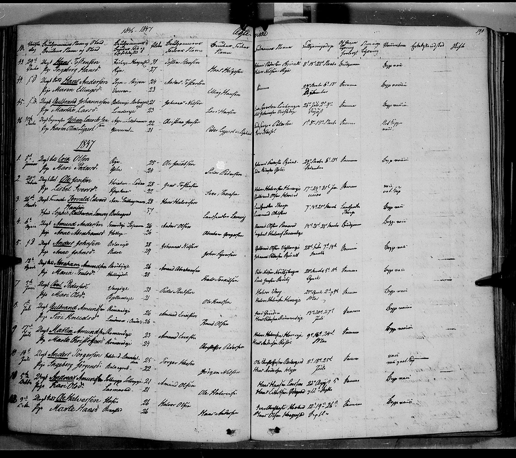 SAH, Jevnaker prestekontor, Ministerialbok nr. 6, 1837-1857, s. 190