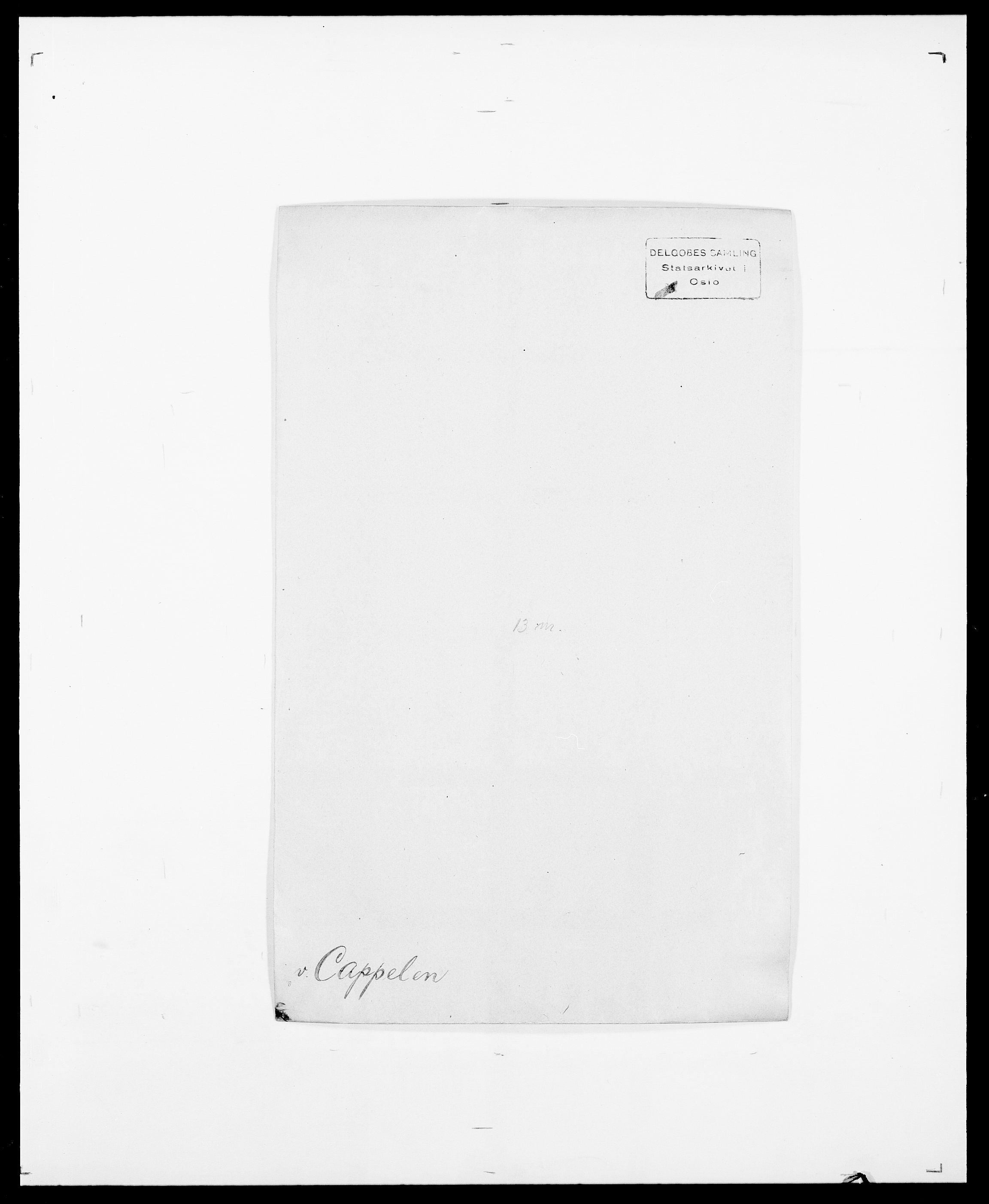 SAO, Delgobe, Charles Antoine - samling, D/Da/L0008: Capjon - Dagenbolt, s. 13