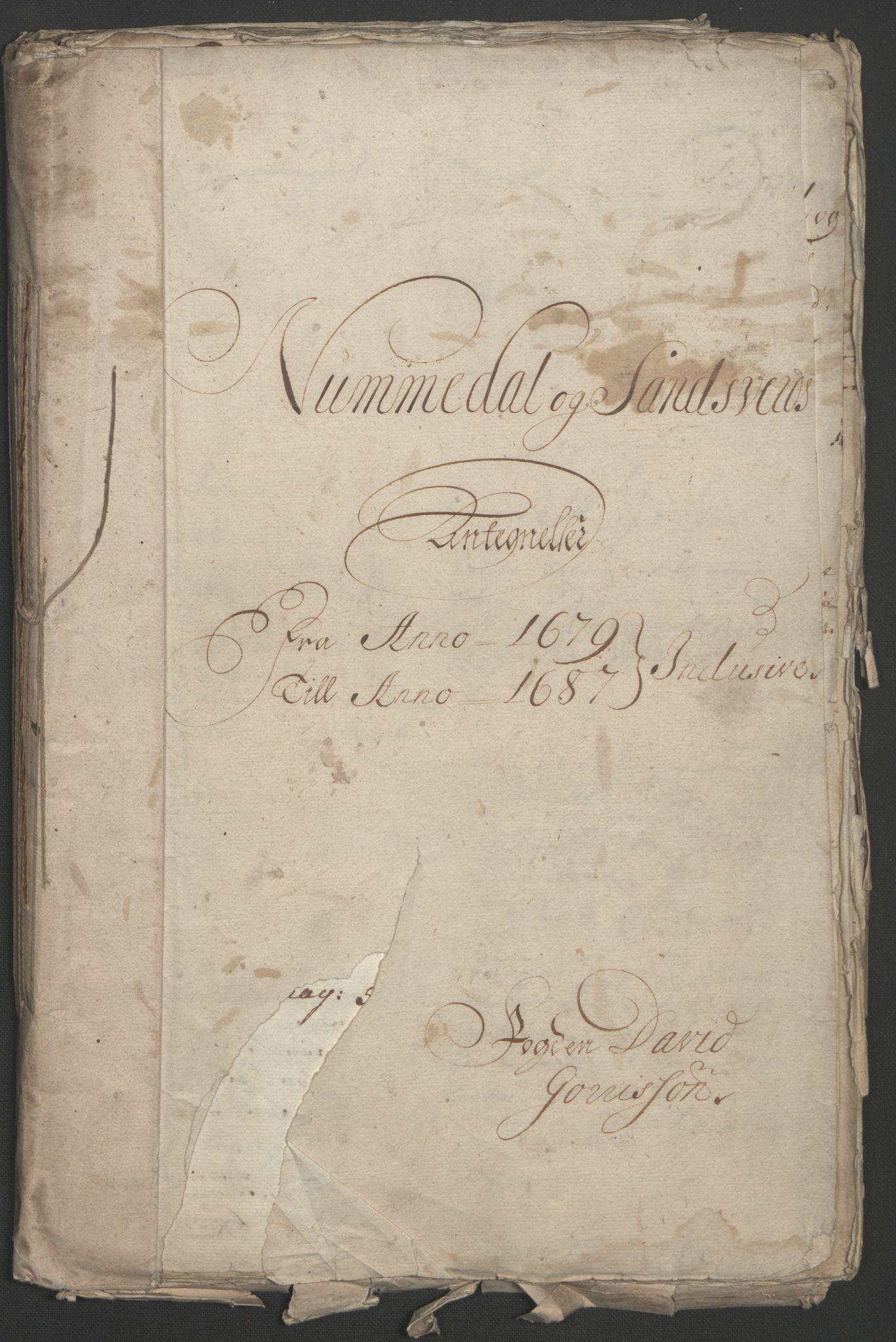 RA, Rentekammeret inntil 1814, Reviderte regnskaper, Fogderegnskap, R24/L1572: Fogderegnskap Numedal og Sandsvær, 1679-1686, s. 256