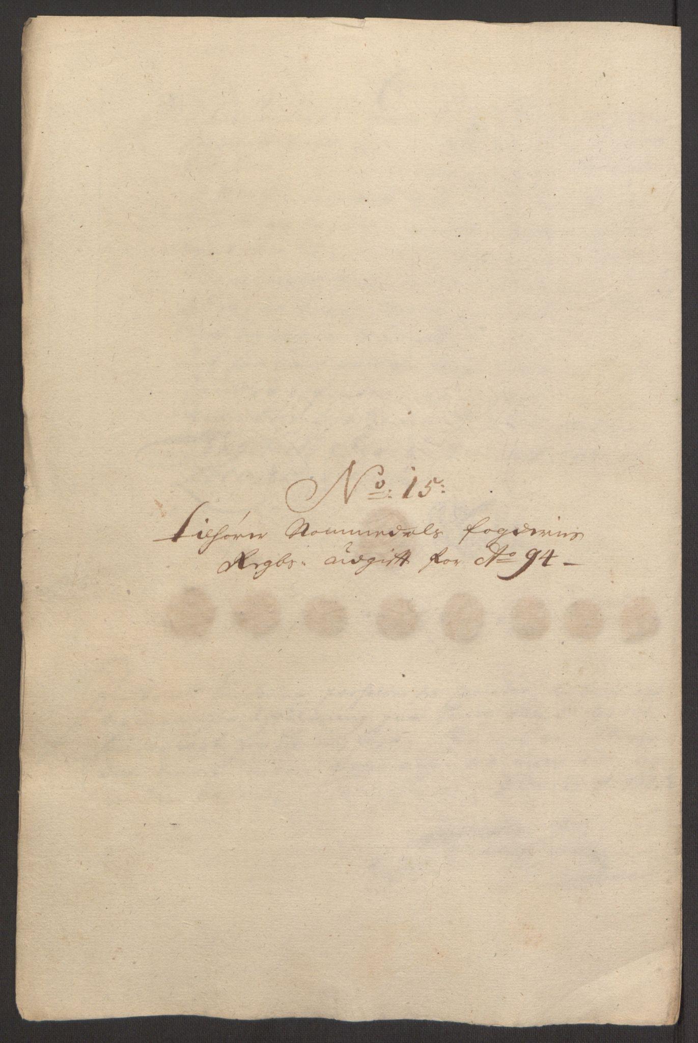 RA, Rentekammeret inntil 1814, Reviderte regnskaper, Fogderegnskap, R64/L4424: Fogderegnskap Namdal, 1692-1695, s. 431