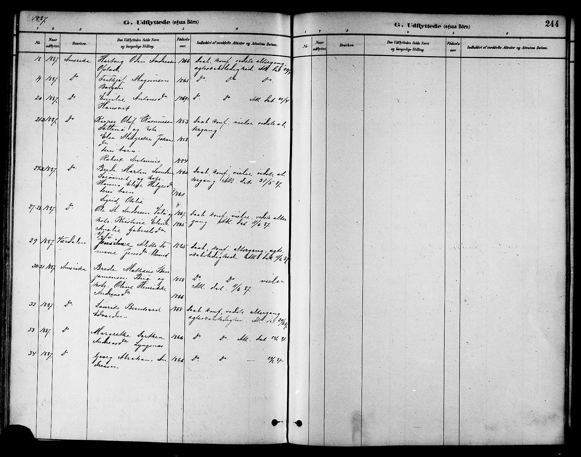 SAT, Ministerialprotokoller, klokkerbøker og fødselsregistre - Nord-Trøndelag, 786/L0686: Ministerialbok nr. 786A02, 1880-1887, s. 244