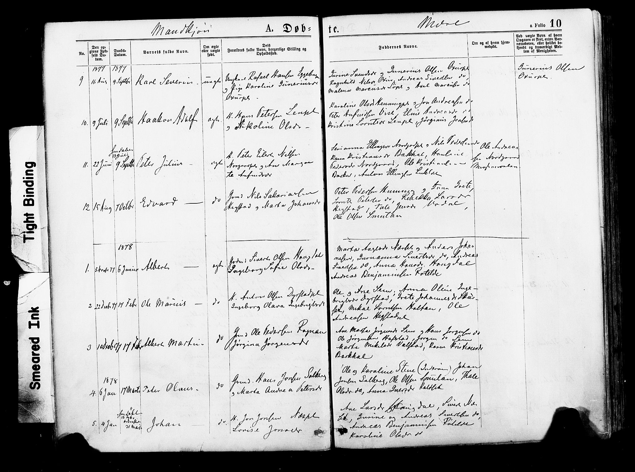 SAT, Ministerialprotokoller, klokkerbøker og fødselsregistre - Nord-Trøndelag, 735/L0348: Ministerialbok nr. 735A09 /1, 1873-1883, s. 10