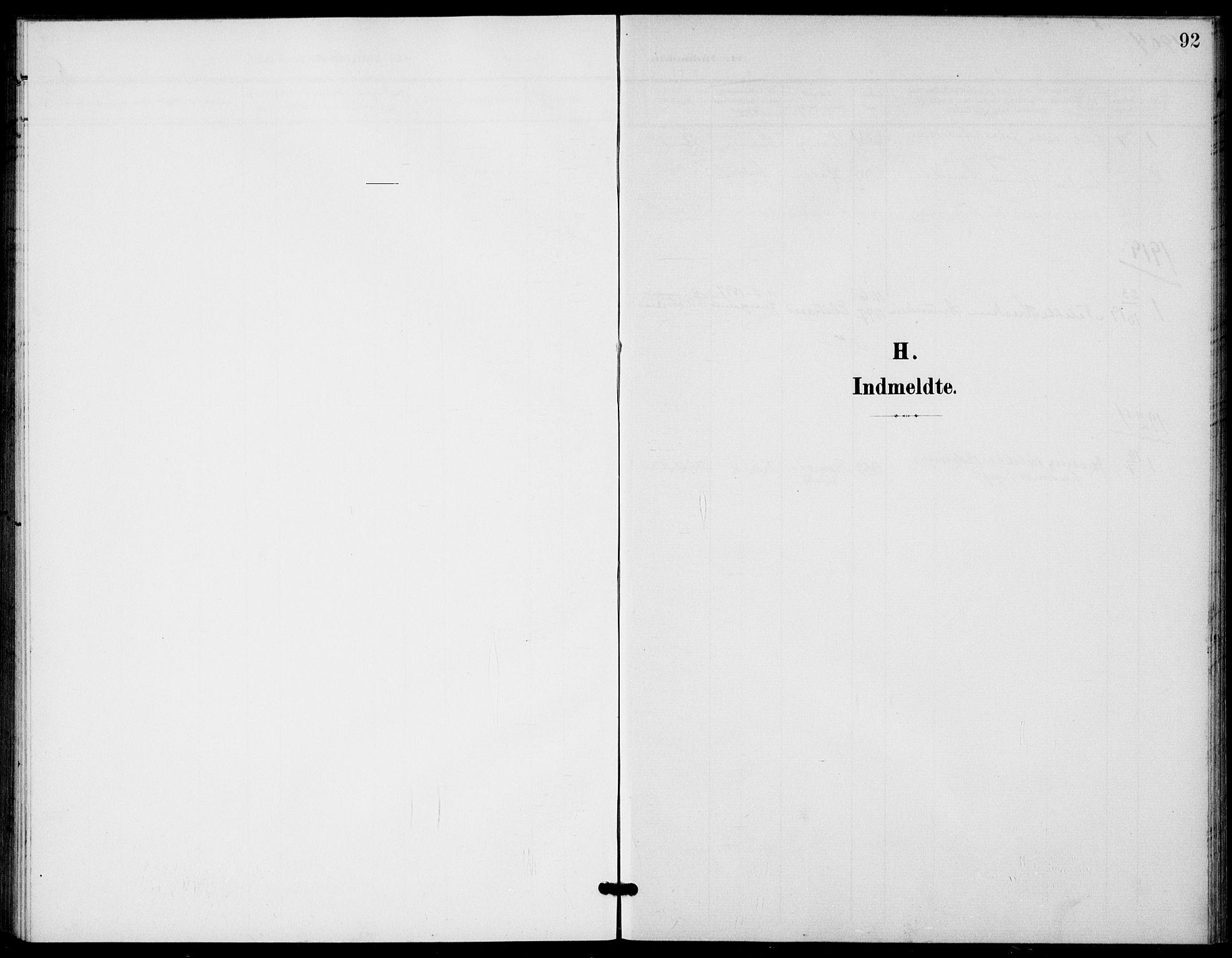 SAKO, Bamble kirkebøker, G/Gb/L0002: Klokkerbok nr. II 2, 1900-1925, s. 92