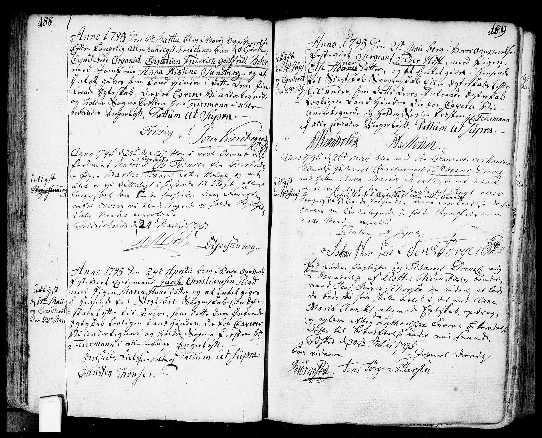 SAO, Fredrikstad prestekontor Kirkebøker, F/Fa/L0002: Ministerialbok nr. 2, 1750-1804, s. 188-189