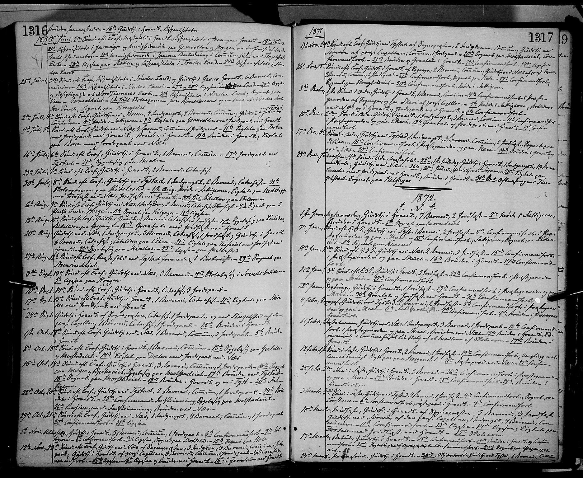 SAH, Gran prestekontor, Ministerialbok nr. 12, 1856-1874, s. 1316-1317