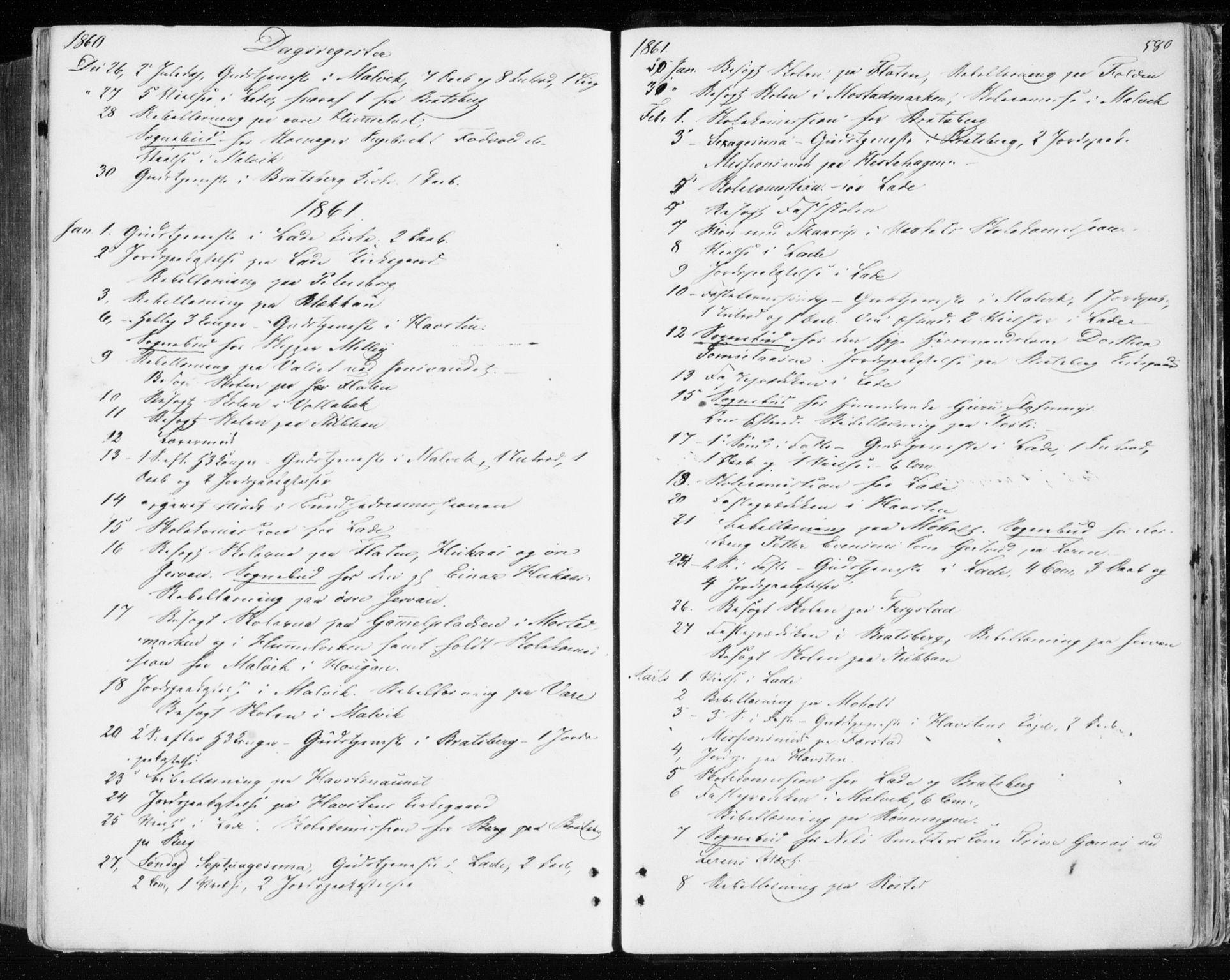 SAT, Ministerialprotokoller, klokkerbøker og fødselsregistre - Sør-Trøndelag, 606/L0292: Ministerialbok nr. 606A07, 1856-1865, s. 580