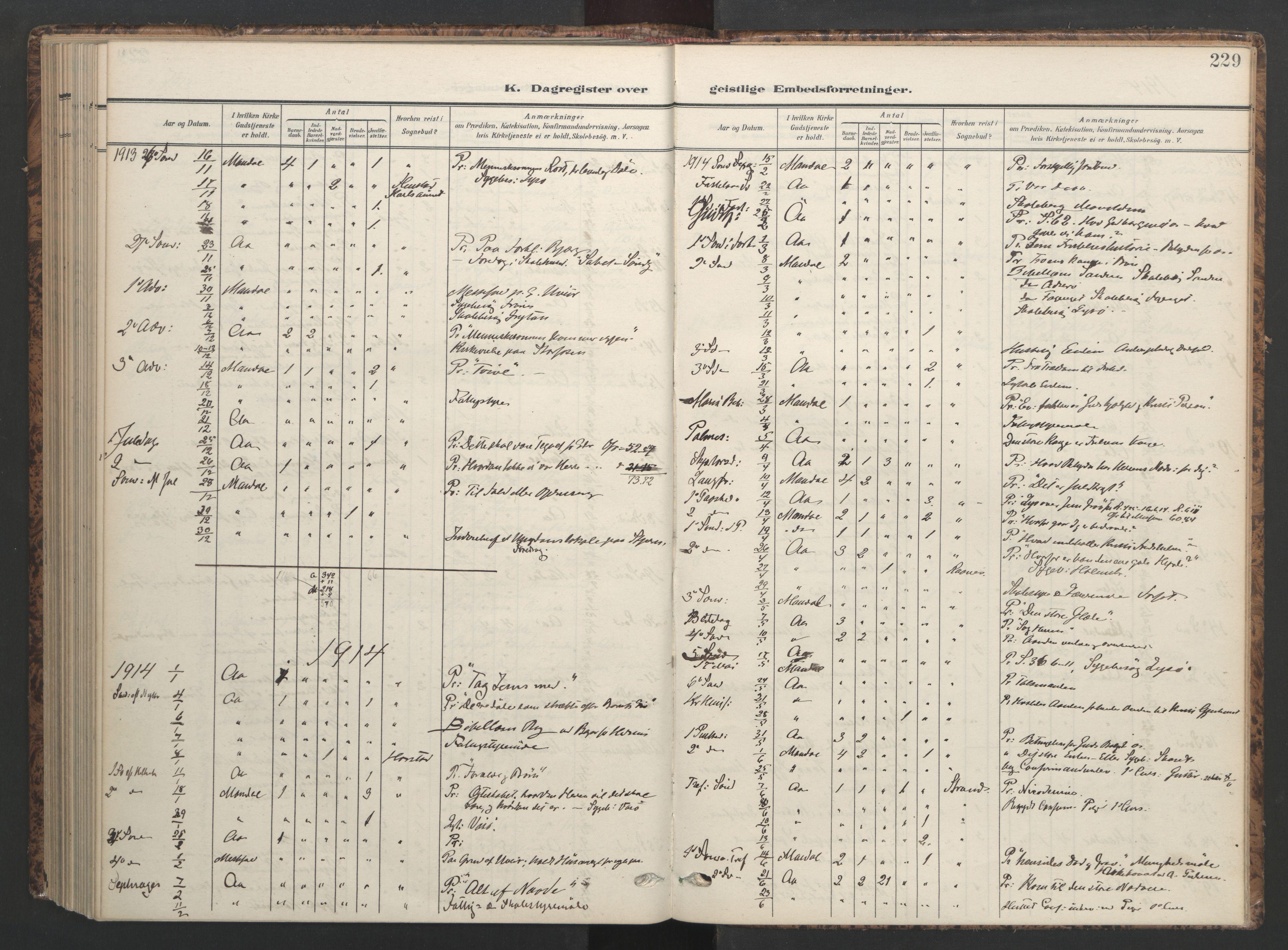 SAT, Ministerialprotokoller, klokkerbøker og fødselsregistre - Sør-Trøndelag, 655/L0682: Ministerialbok nr. 655A11, 1908-1922, s. 229