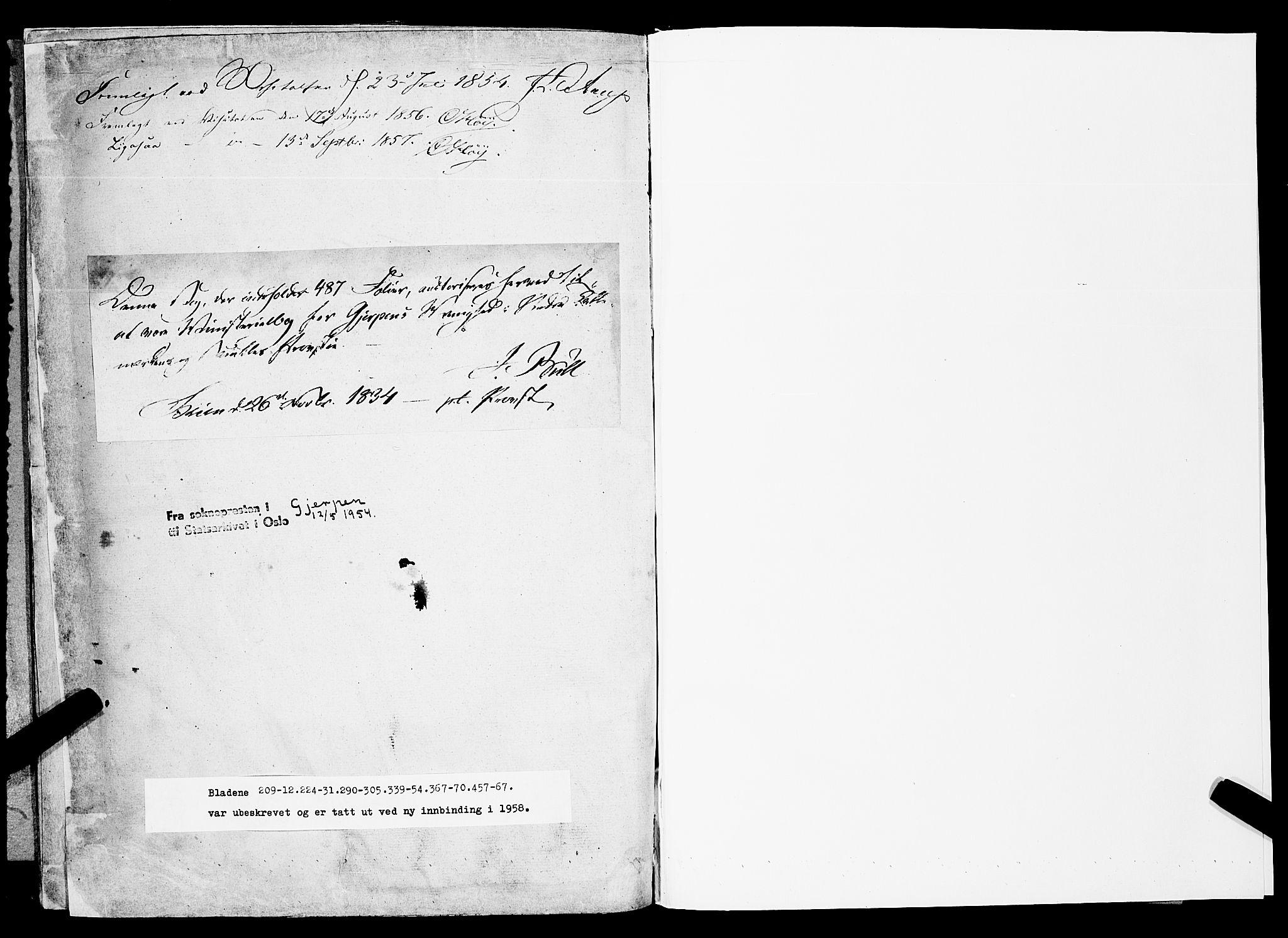 SAKO, Gjerpen kirkebøker, F/Fa/L0007b: Ministerialbok nr. 7B, 1834-1857