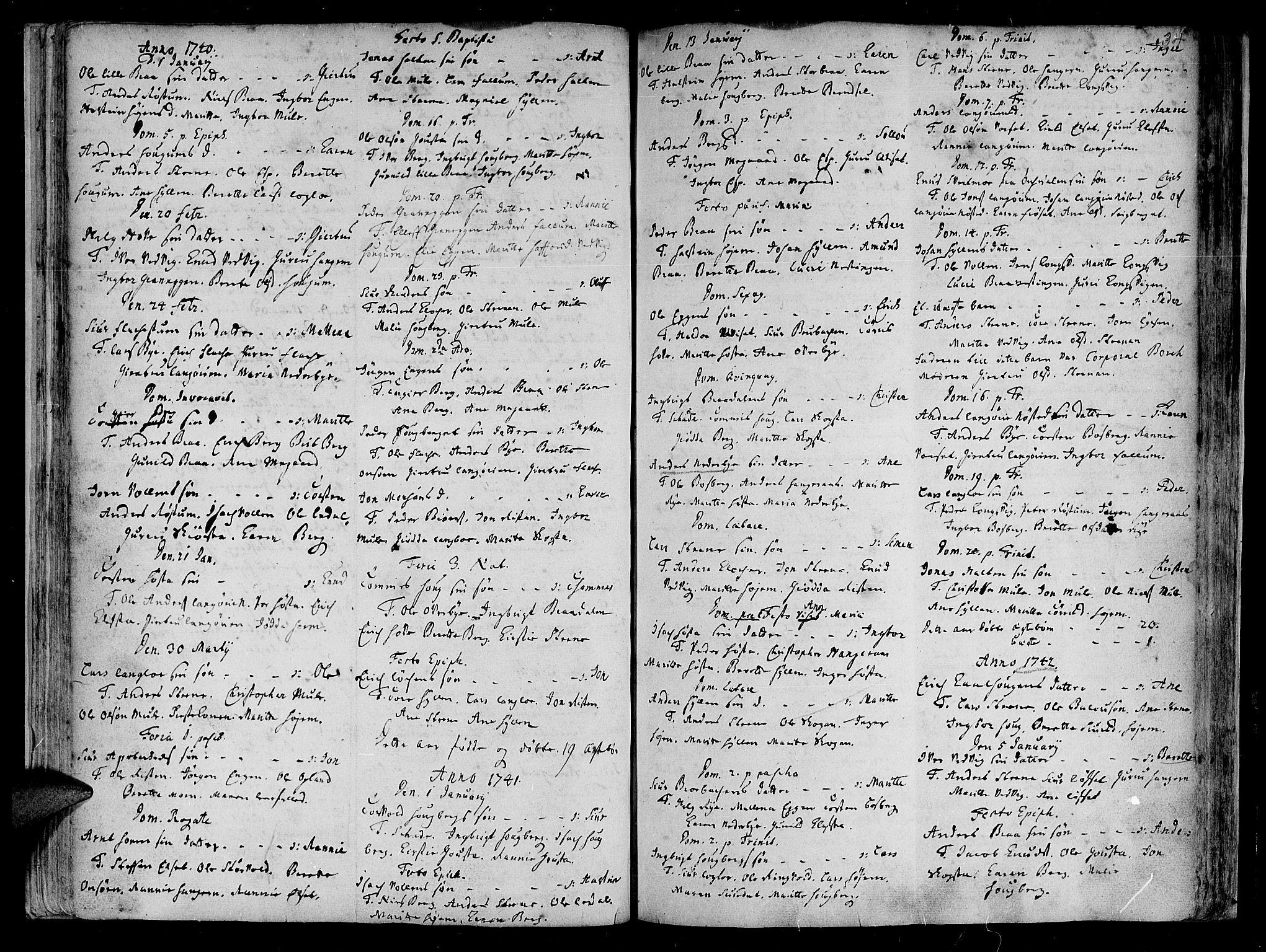 SAT, Ministerialprotokoller, klokkerbøker og fødselsregistre - Sør-Trøndelag, 612/L0368: Ministerialbok nr. 612A02, 1702-1753, s. 34