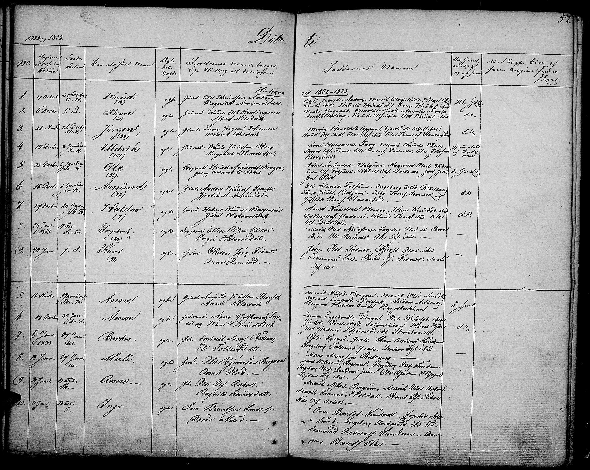 SAH, Nord-Aurdal prestekontor, Ministerialbok nr. 3, 1828-1841, s. 57