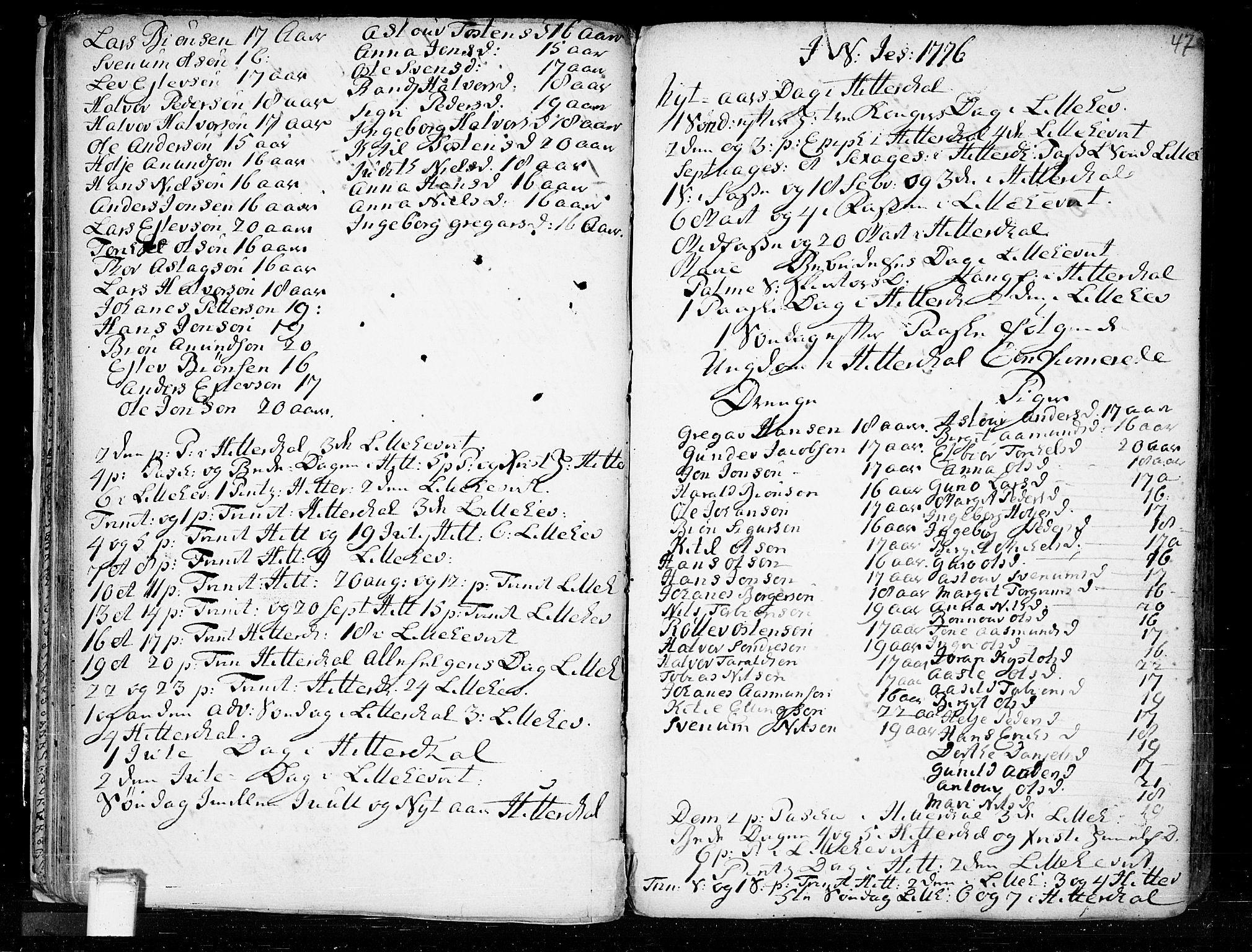 SAKO, Heddal kirkebøker, F/Fa/L0003: Ministerialbok nr. I 3, 1723-1783, s. 47