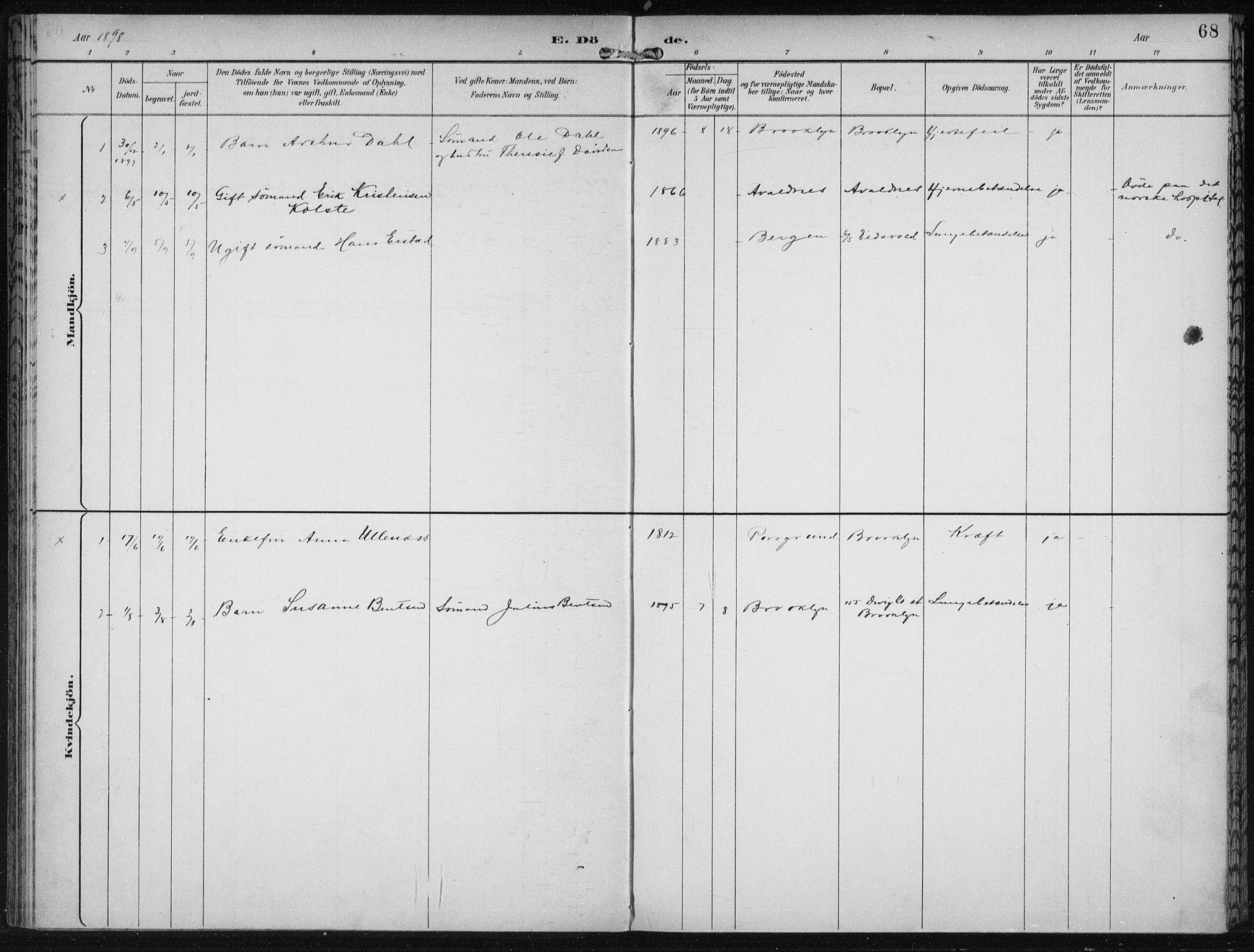 SAB, Den Norske Sjømannsmisjon i utlandet*, Ministerialbok nr. A 4, 1893-1901, s. 68