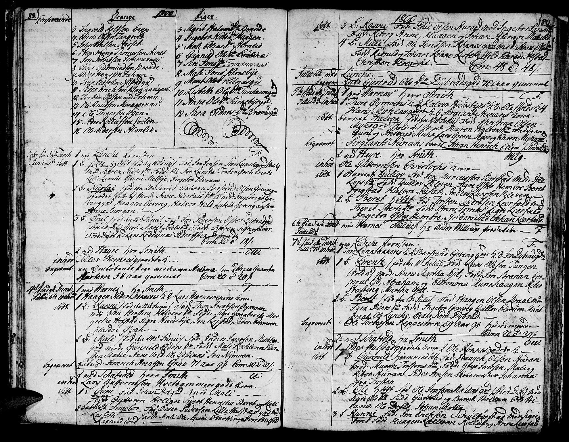 SAT, Ministerialprotokoller, klokkerbøker og fødselsregistre - Nord-Trøndelag, 709/L0060: Ministerialbok nr. 709A07, 1797-1815, s. 88-89