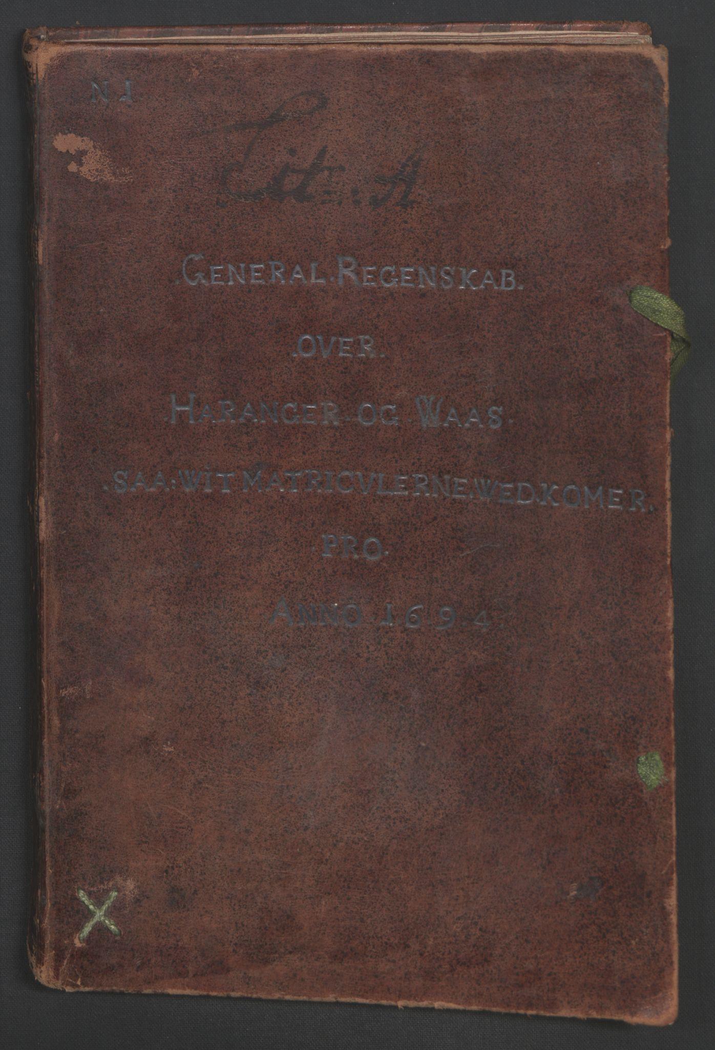 RA, Rentekammeret inntil 1814, Reviderte regnskaper, Fogderegnskap, R48/L2975: Fogderegnskap Sunnhordland og Hardanger, 1694, s. 171