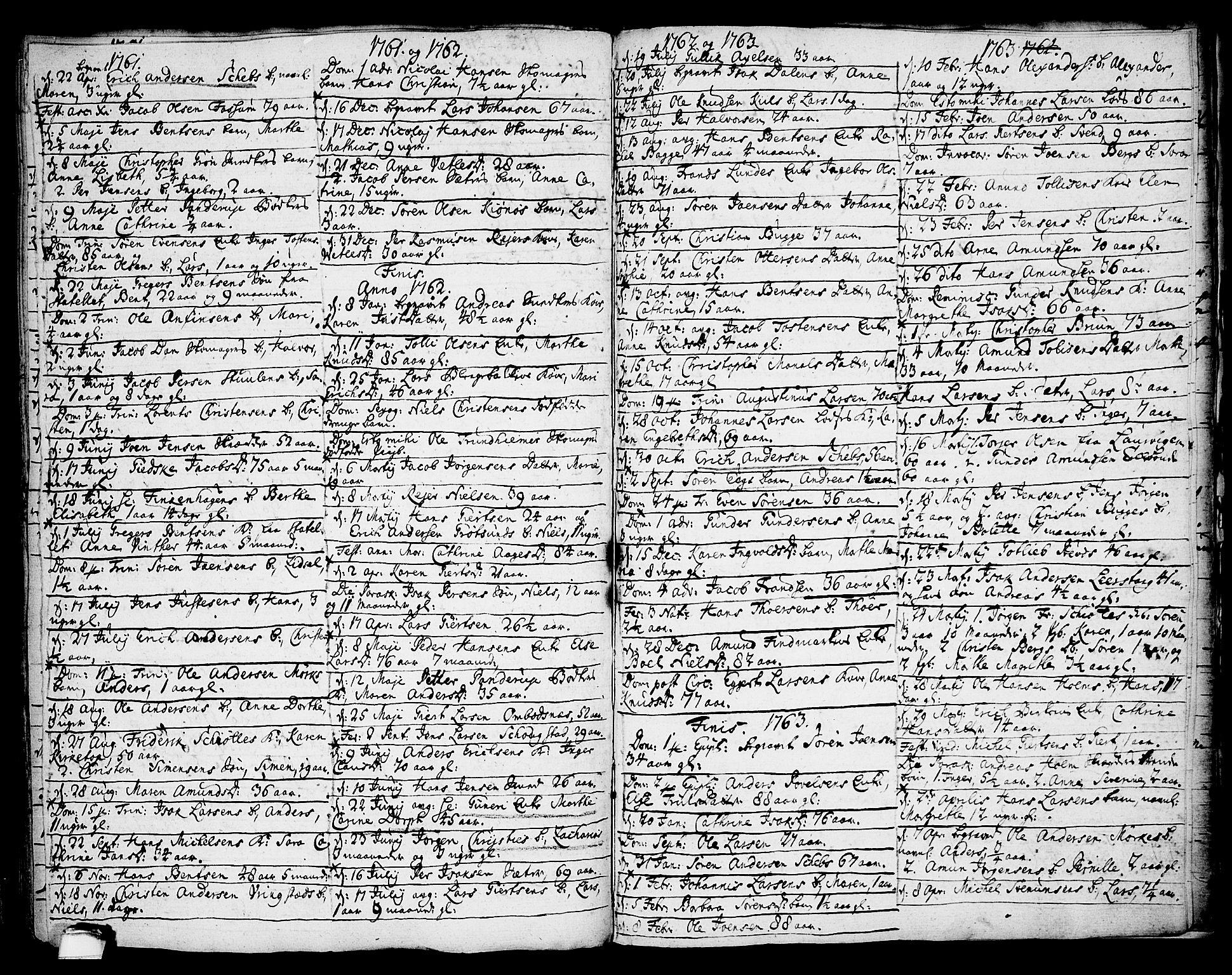 SAKO, Brevik kirkebøker, F/Fa/L0002: Ministerialbok nr. 2, 1720-1764, s. 58f