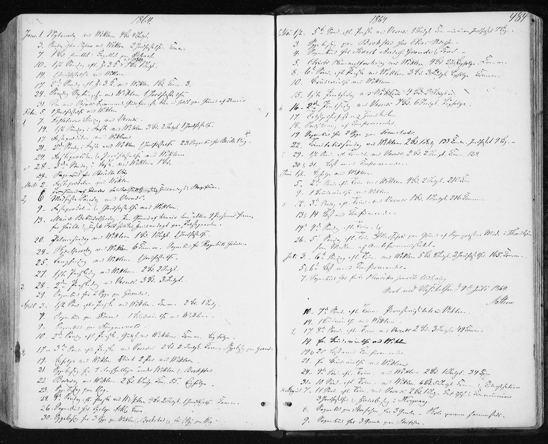 SAT, Ministerialprotokoller, klokkerbøker og fødselsregistre - Sør-Trøndelag, 659/L0737: Ministerialbok nr. 659A07, 1857-1875, s. 484