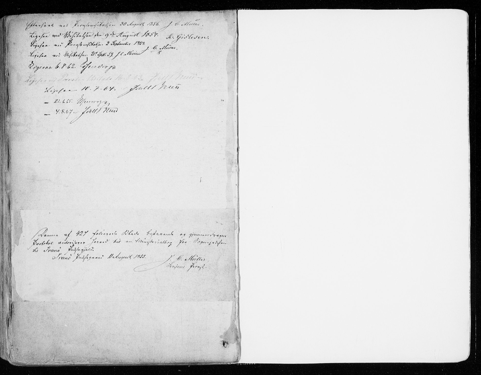 SATØ, Tranøy sokneprestkontor, I/Ia/Iaa/L0007kirke: Ministerialbok nr. 7, 1856-1866