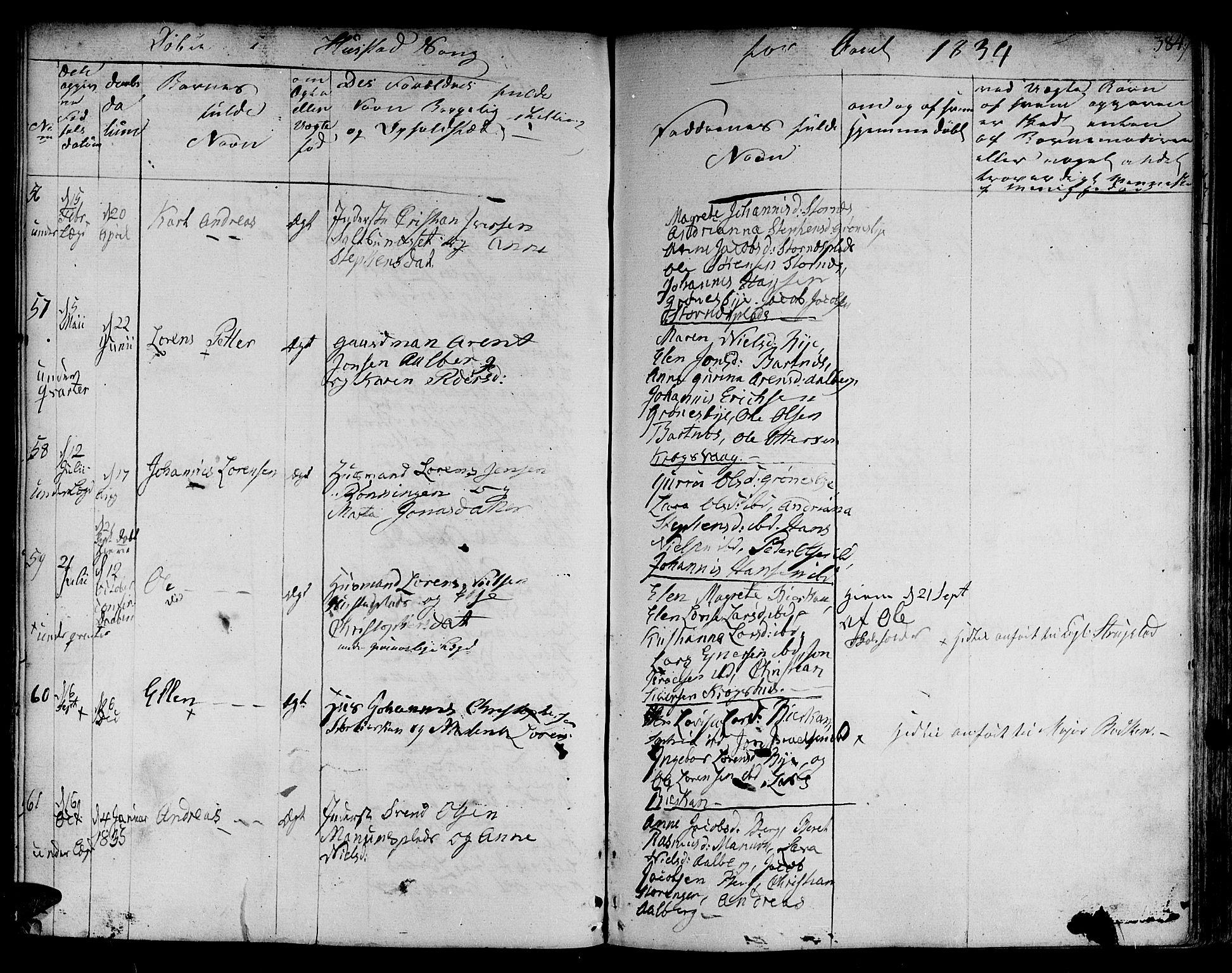 SAT, Ministerialprotokoller, klokkerbøker og fødselsregistre - Nord-Trøndelag, 730/L0277: Ministerialbok nr. 730A06 /3, 1830-1839, s. 384
