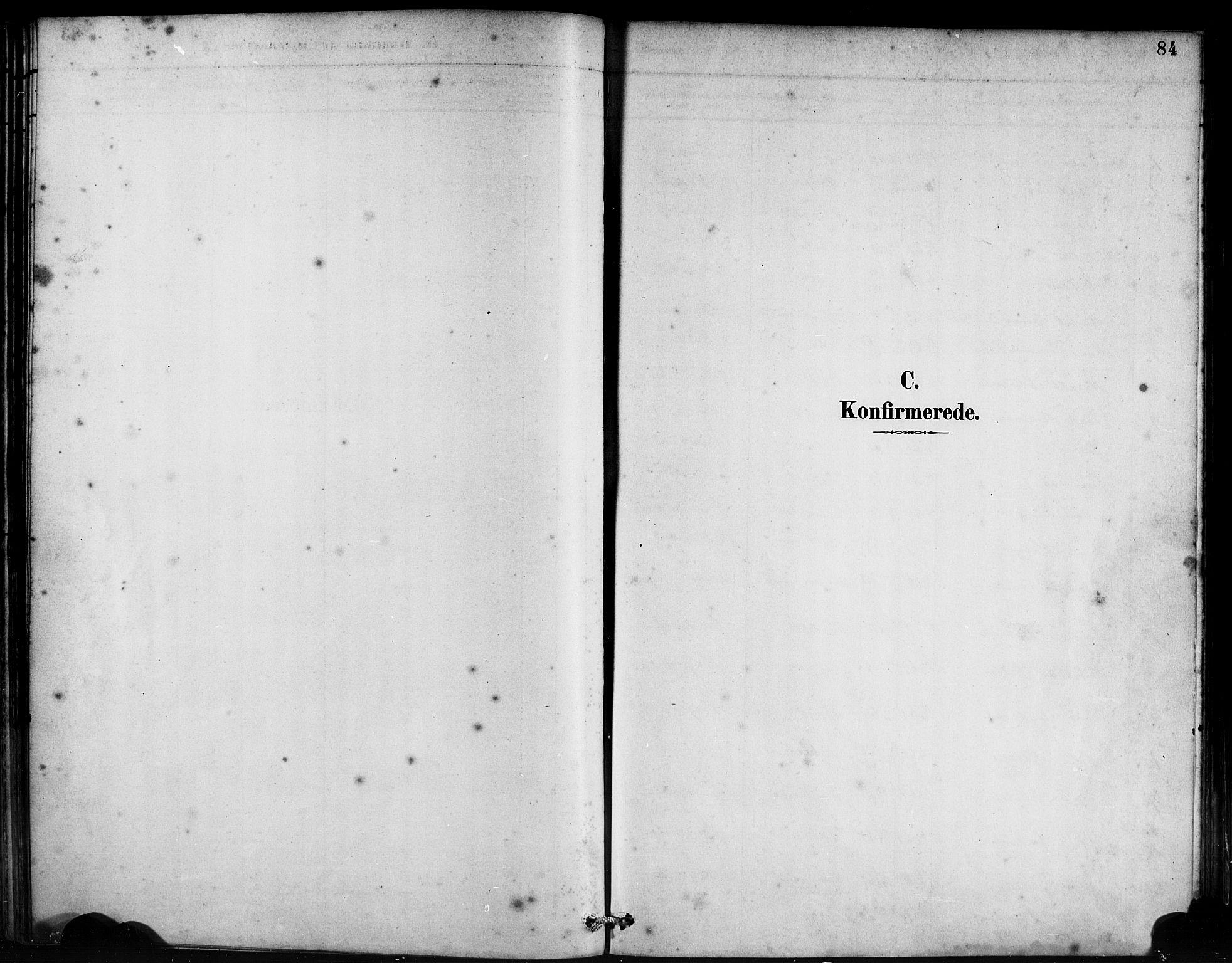 SAB, Bremanger Sokneprestembete, H/Haa: Ministerialbok nr. B 1, 1884-1895, s. 84