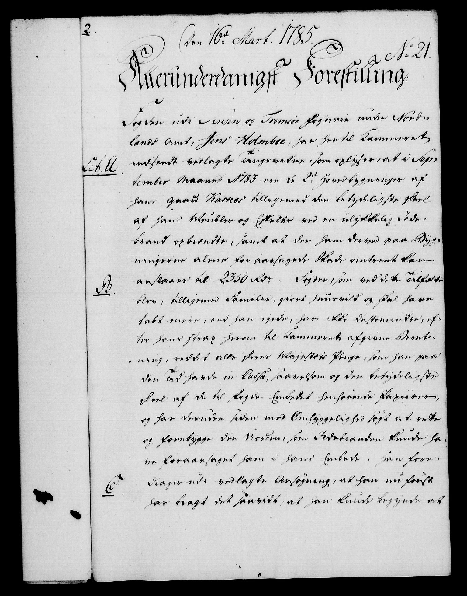 RA, Rentekammeret, Kammerkanselliet, G/Gf/Gfa/L0067: Norsk relasjons- og resolusjonsprotokoll (merket RK 52.67), 1785, s. 206