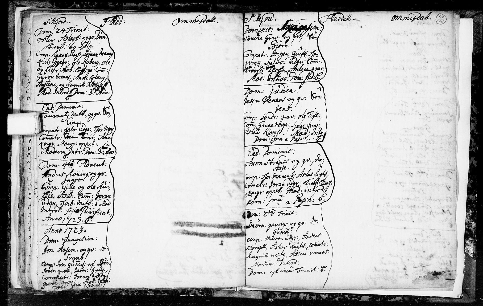 SAKO, Seljord kirkebøker, F/Fa/L0003: Ministerialbok nr. I 3, 1714-1725, s. 23