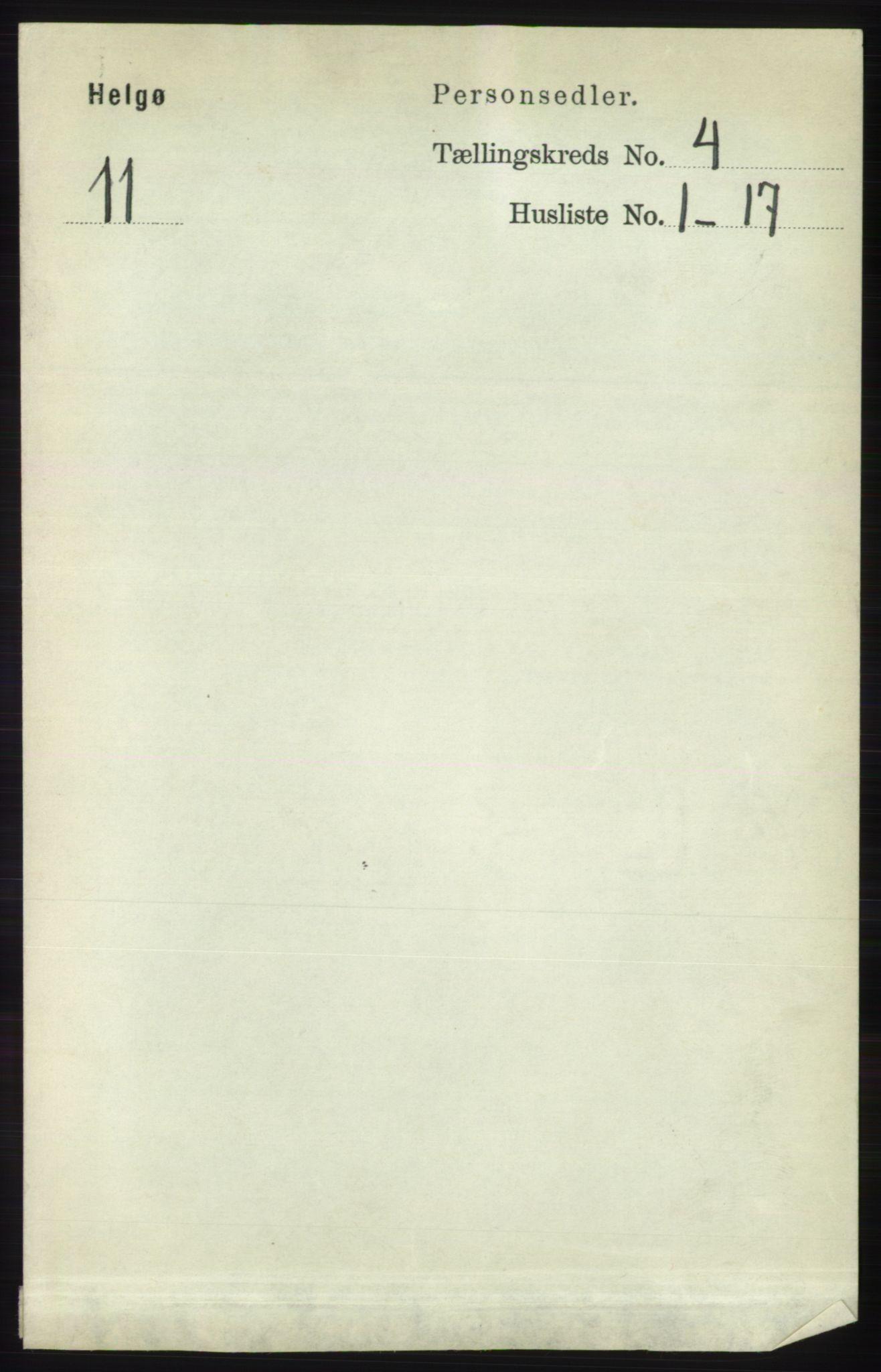 RA, Folketelling 1891 for 1935 Helgøy herred, 1891, s. 1010