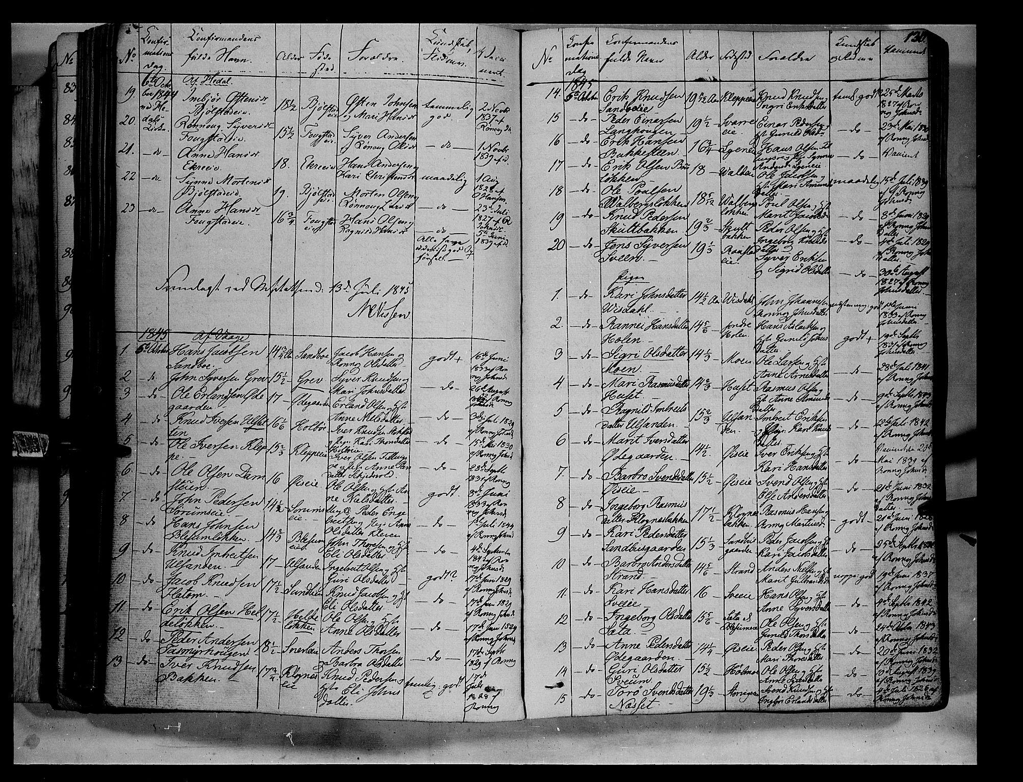 SAH, Vågå prestekontor, Ministerialbok nr. 5 /1, 1842-1856, s. 130