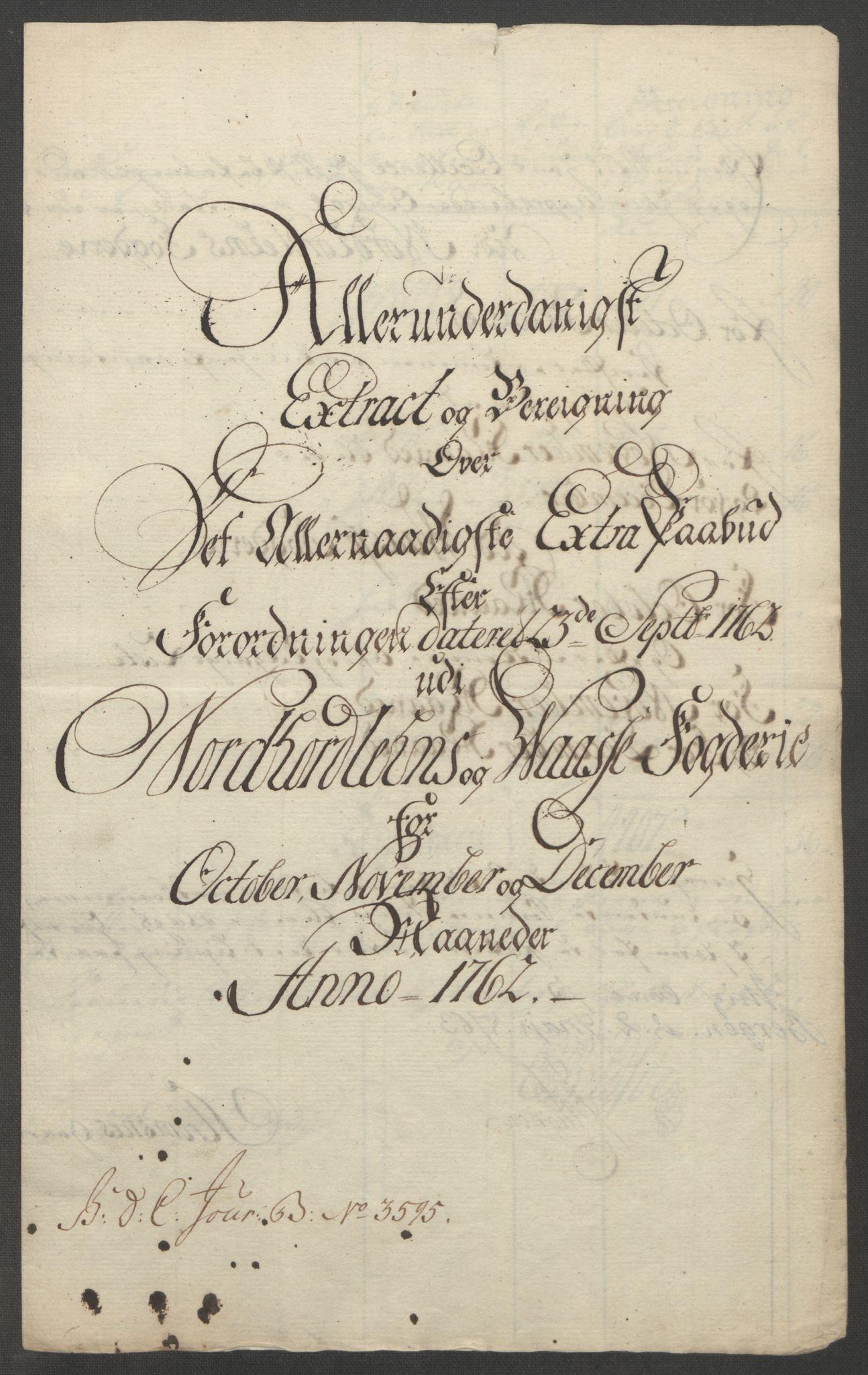 RA, Rentekammeret inntil 1814, Reviderte regnskaper, Fogderegnskap, R51/L3303: Ekstraskatten Nordhordland og Voss, 1762-1772, s. 14