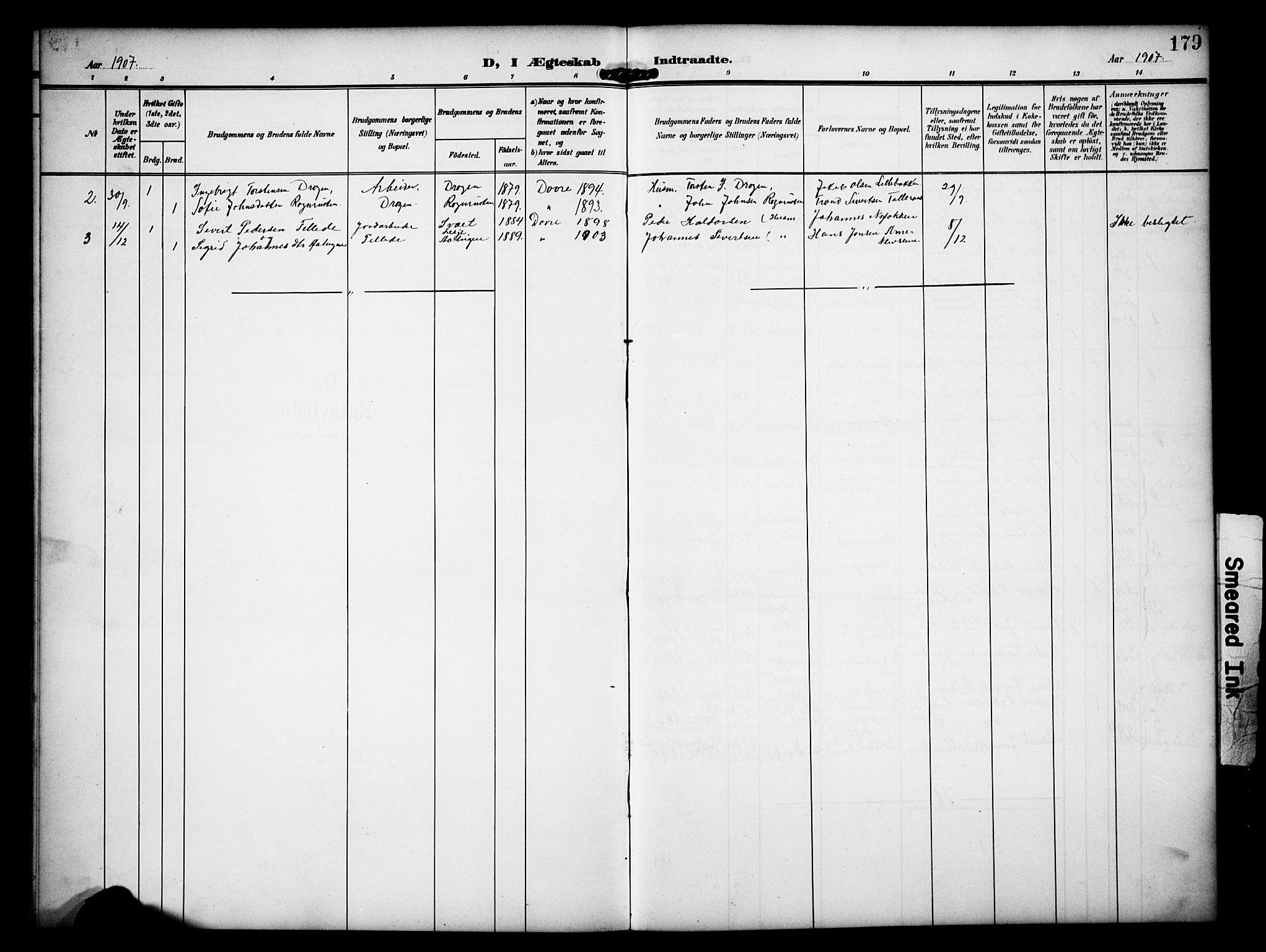 SAH, Dovre prestekontor, Klokkerbok nr. 3, 1907-1929, s. 179