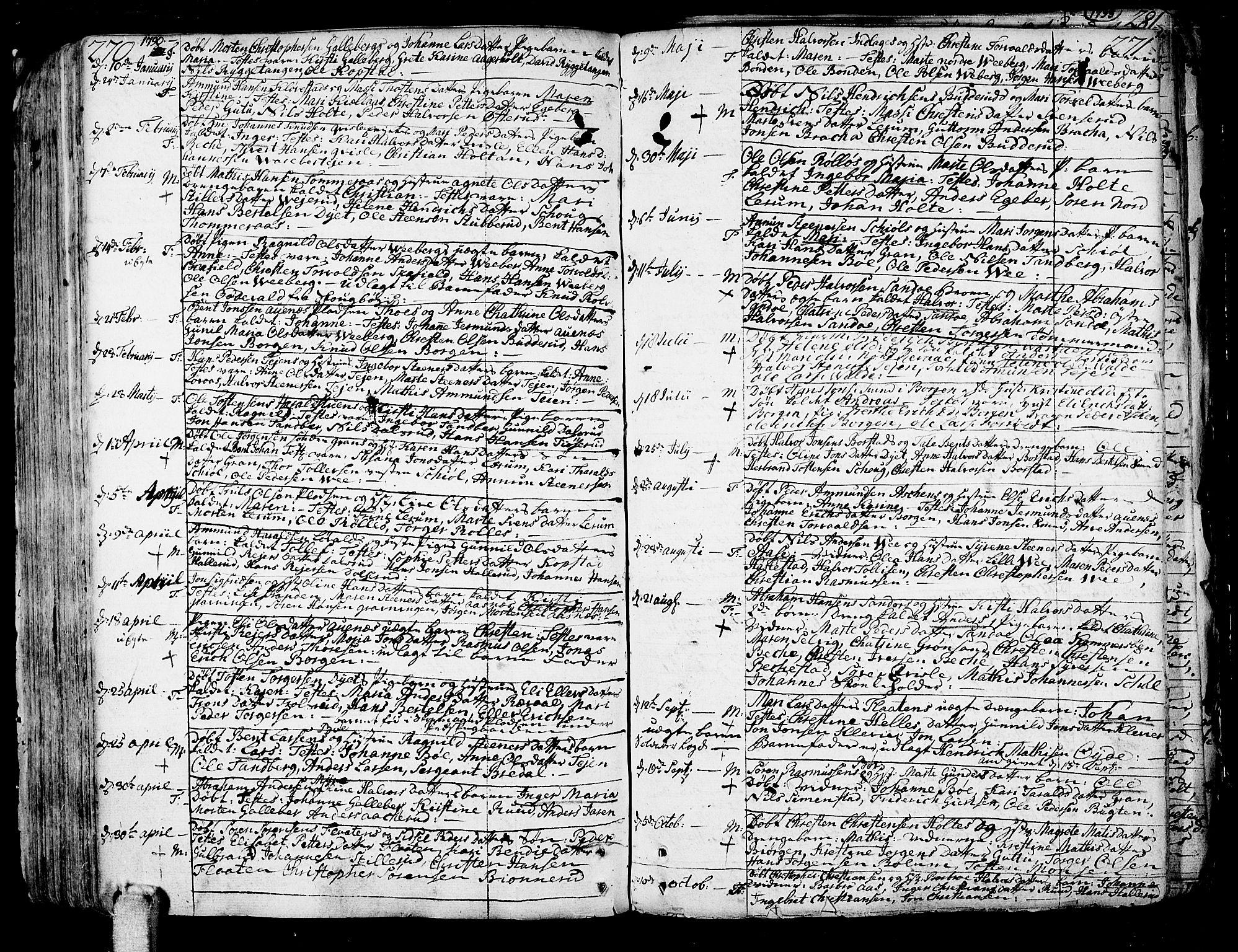 SAKO, Sande Kirkebøker, F/Fa/L0001: Ministerialbok nr. 1, 1753-1803, s. 270-271