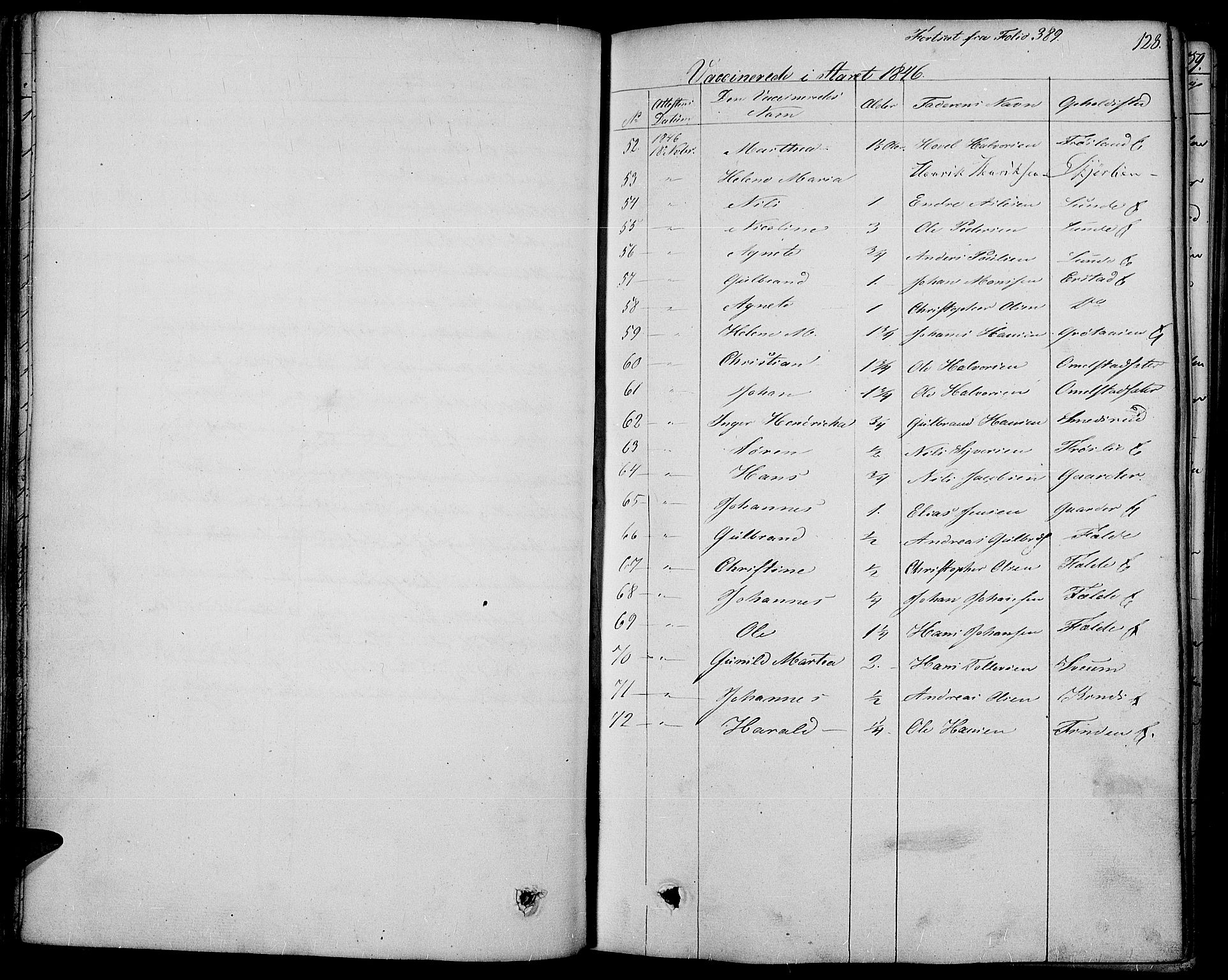 SAH, Land prestekontor, Ministerialbok nr. 8, 1830-1846, s. 128